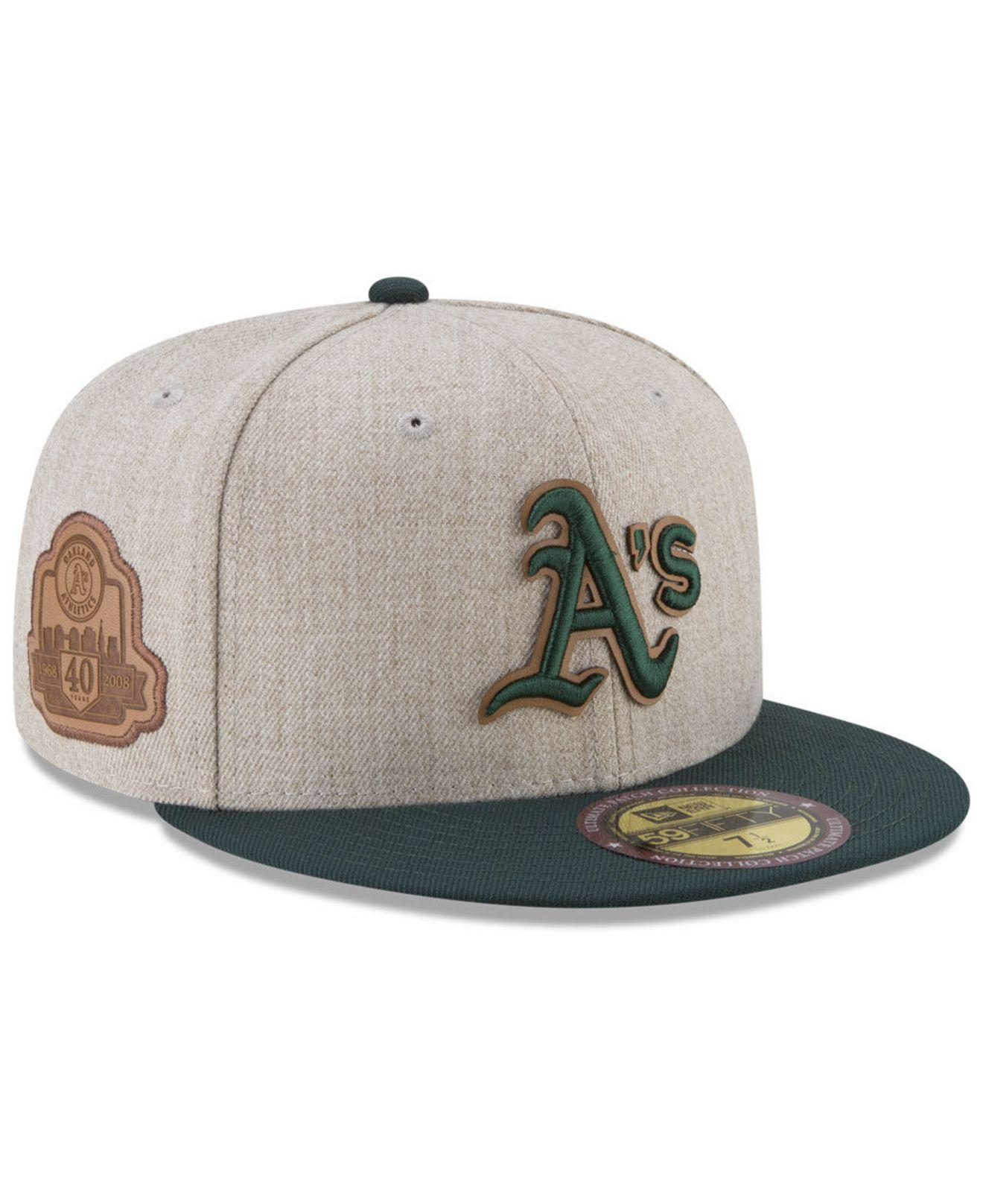 separation shoes b0619 f3381 KTZ Oakland Athletics Leather Ultimate Patch Collection 59fifty ...