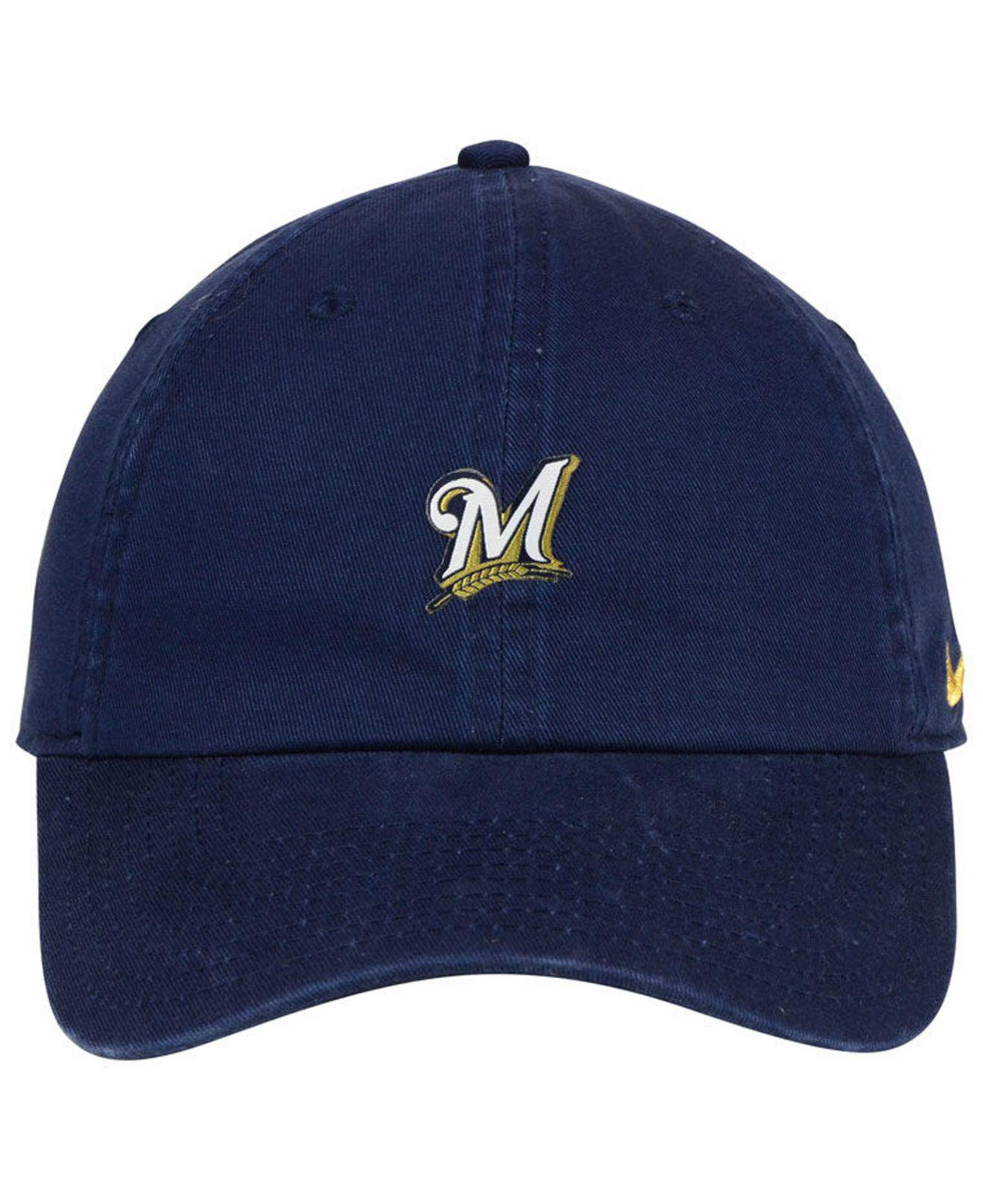 4e442be8 ... sale lyst nike milwaukee brewers micro cap in blue for men df735 32094