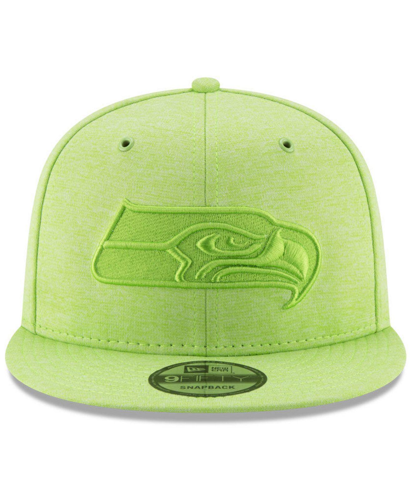 half off 2bd33 9596d Lyst - KTZ Seattle Seahawks Tonal Heat 9fifty Snapback Cap in Green for Men