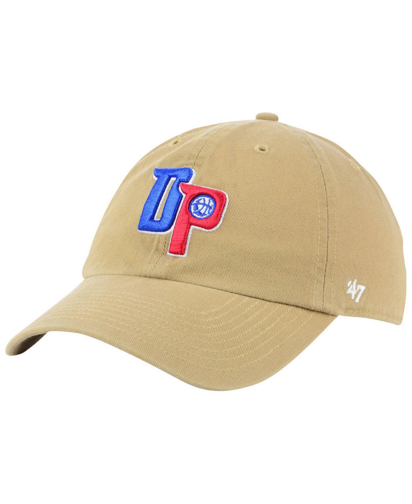 superior quality 274f3 7fff0 47 Brand. Men s Detroit Pistons Mash Up Clean Up Cap