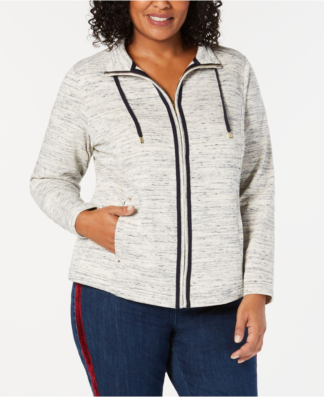 592b049d68a Lyst - Charter Club Plus Size Space-dyed Jacket
