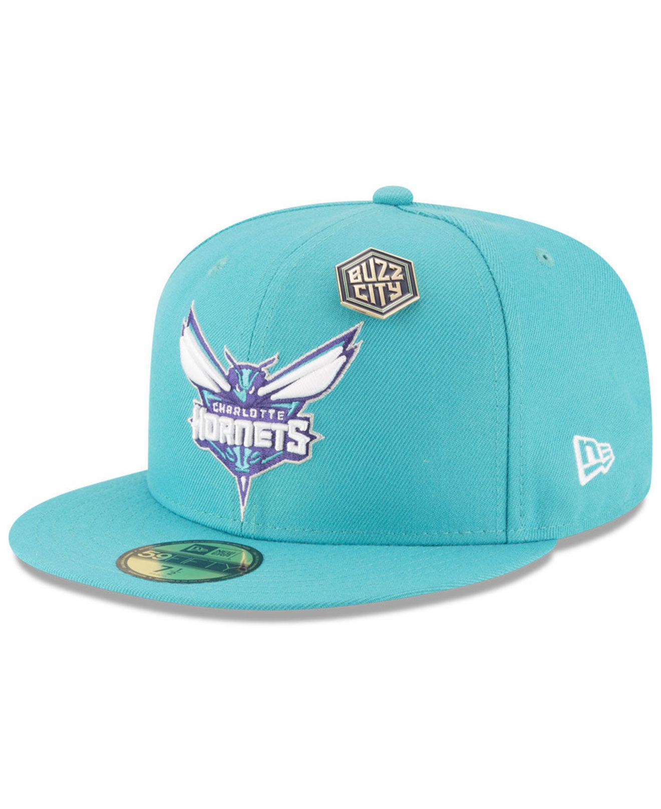 info for 6516f 57885 Lyst - KTZ Charlotte Hornets On-court Collection 59fifty Fitted Cap ...