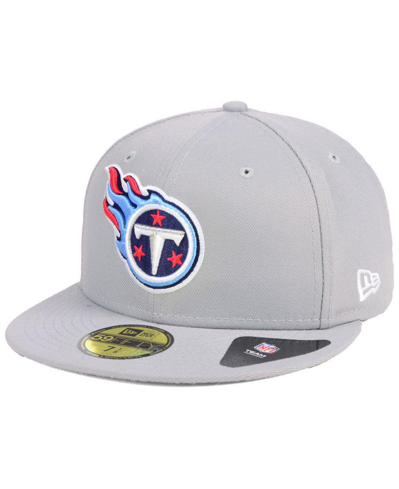 pretty nice 08f6d 244ca KTZ. Men s Gray Tennessee Titans Team Basic 59fifty Fitted Cap