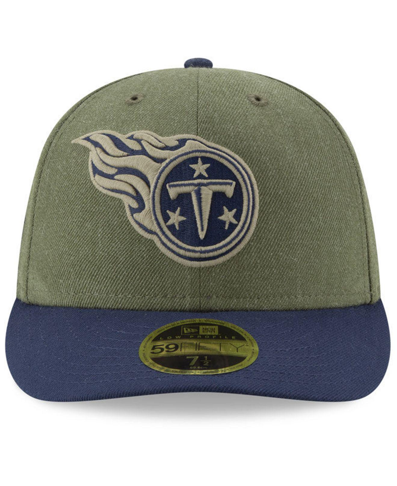 Lyst - Ktz Tennessee Titans Salute To Service Low Profile 59fifty Fitted  Cap 2018 in Green for Men dbdd7cf77
