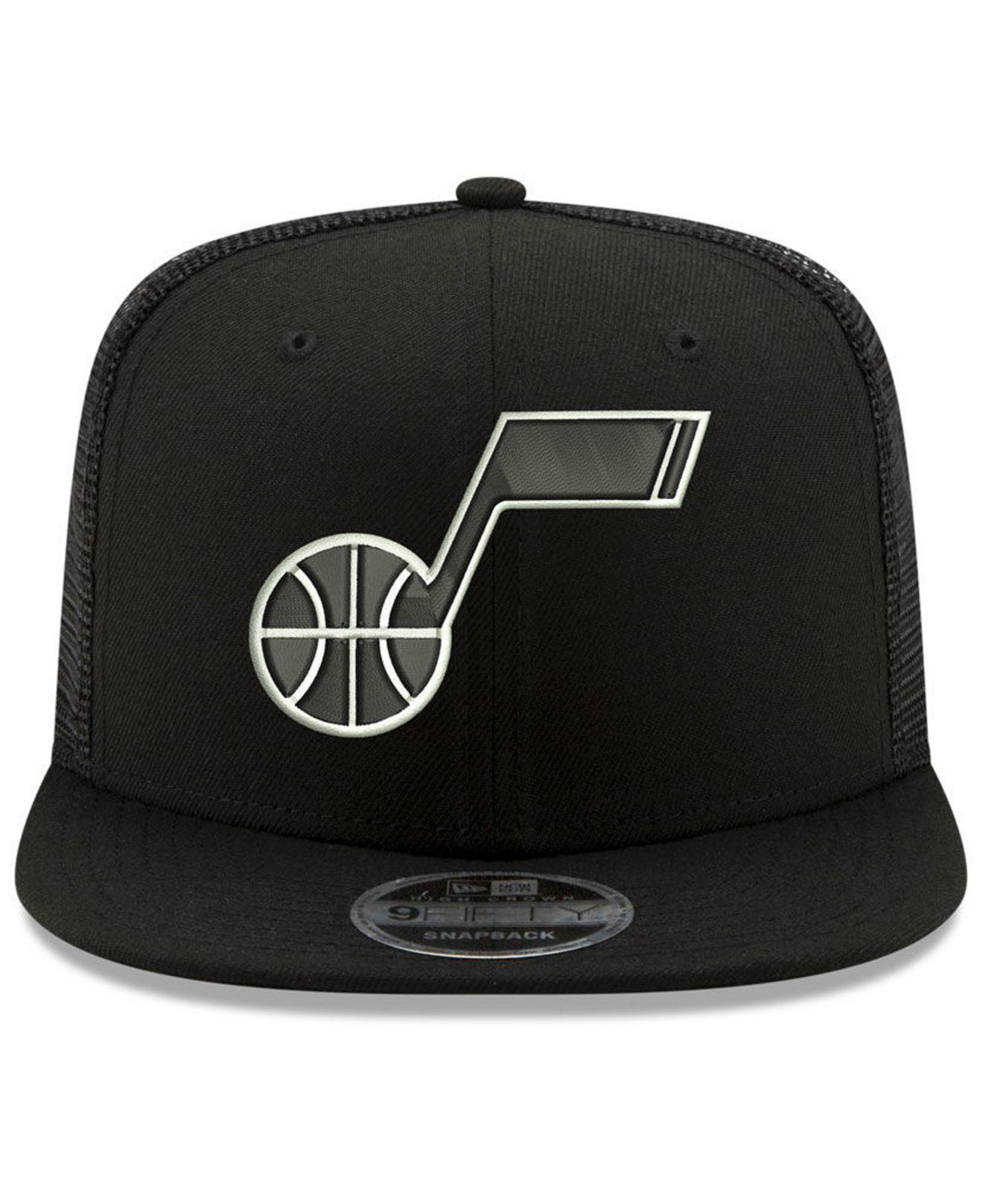 edbe9aab Lyst - KTZ Utah Jazz Dub Fresh Trucker 9fifty Snapback Cap in Black for Men