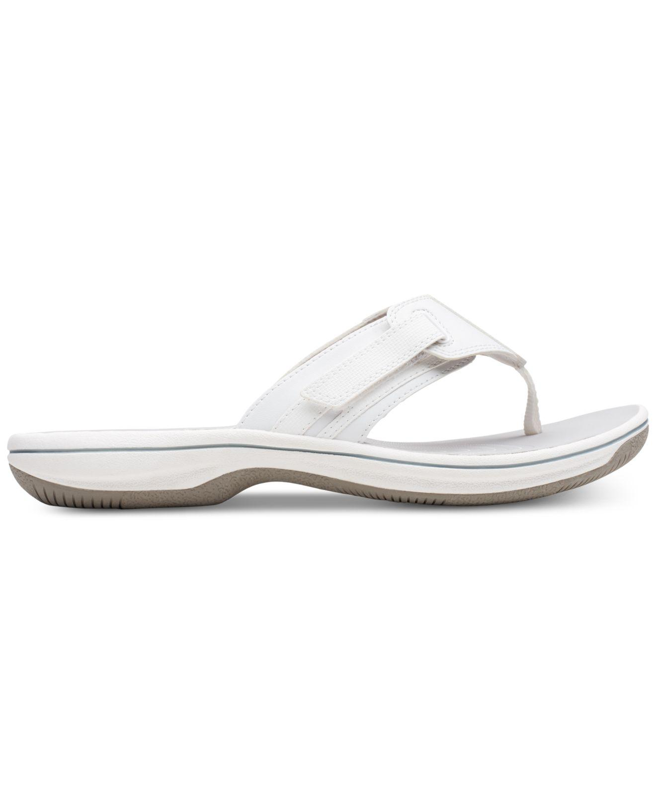 64e30a90394f Lyst - Clarks Women s Brinkley Bree Flip-flops in White - Save 60%