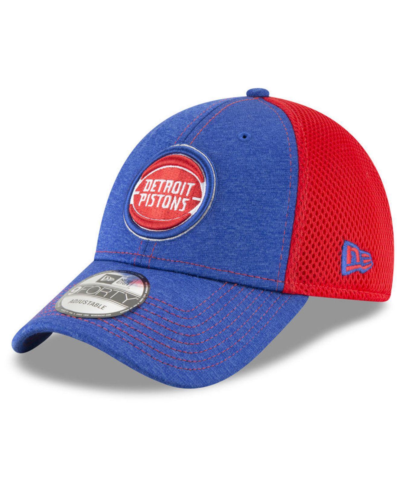 308096be2ff Lyst - KTZ Detroit Pistons Shadow Turn 2 Adjustable Cap in Blue for Men
