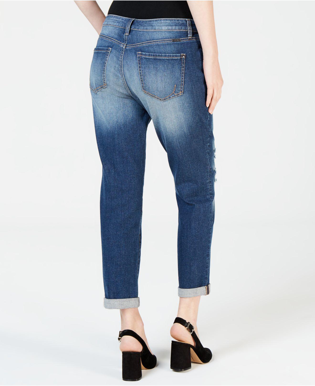 a3de01214fa Lyst - INC International Concepts I.n.c. Ripped Curvy-fit Boyfriend Jeans