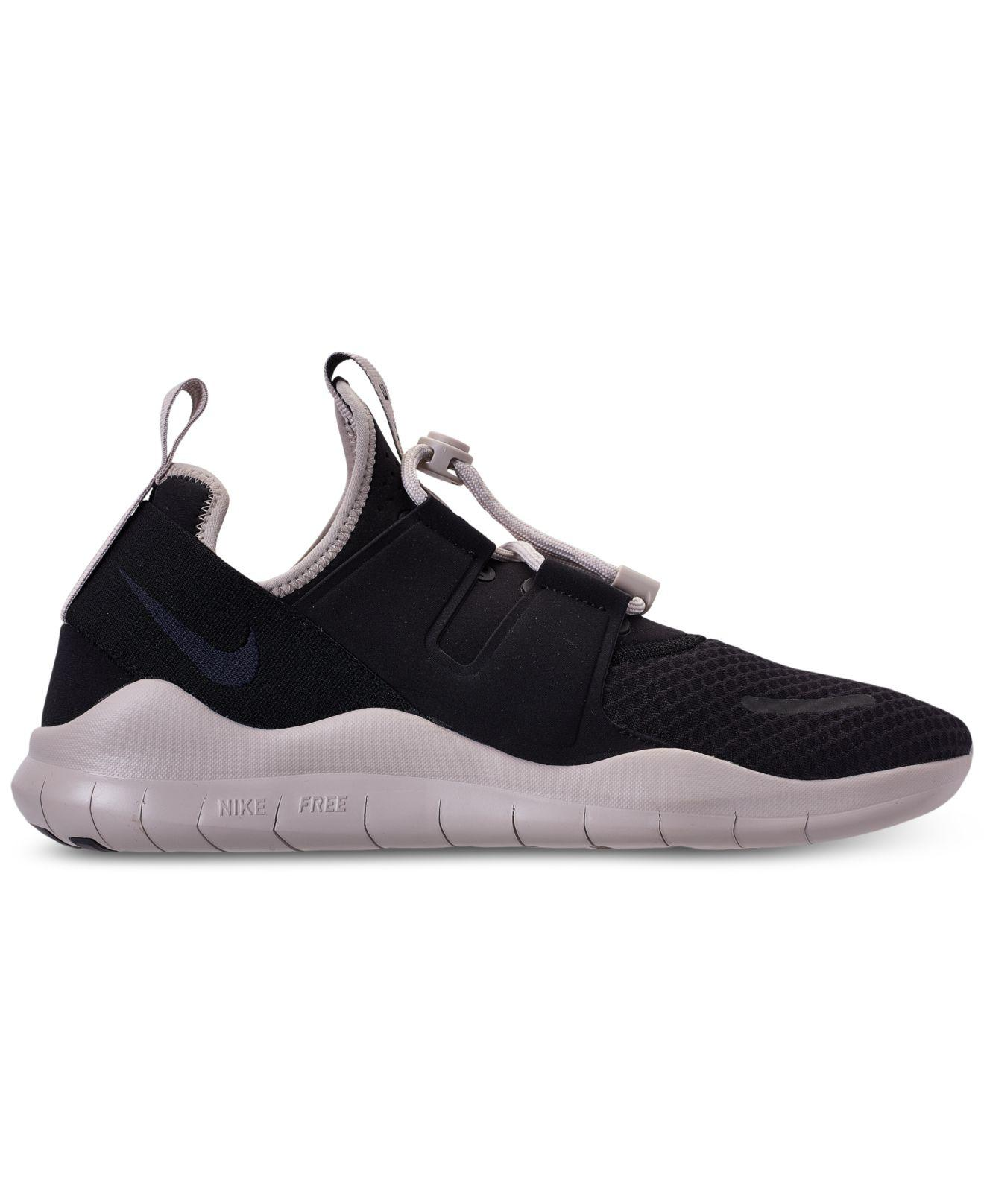 84bfd14b3338 ... shop lyst nike free rn commuter 2018 running sneakers from finish line  in black for men