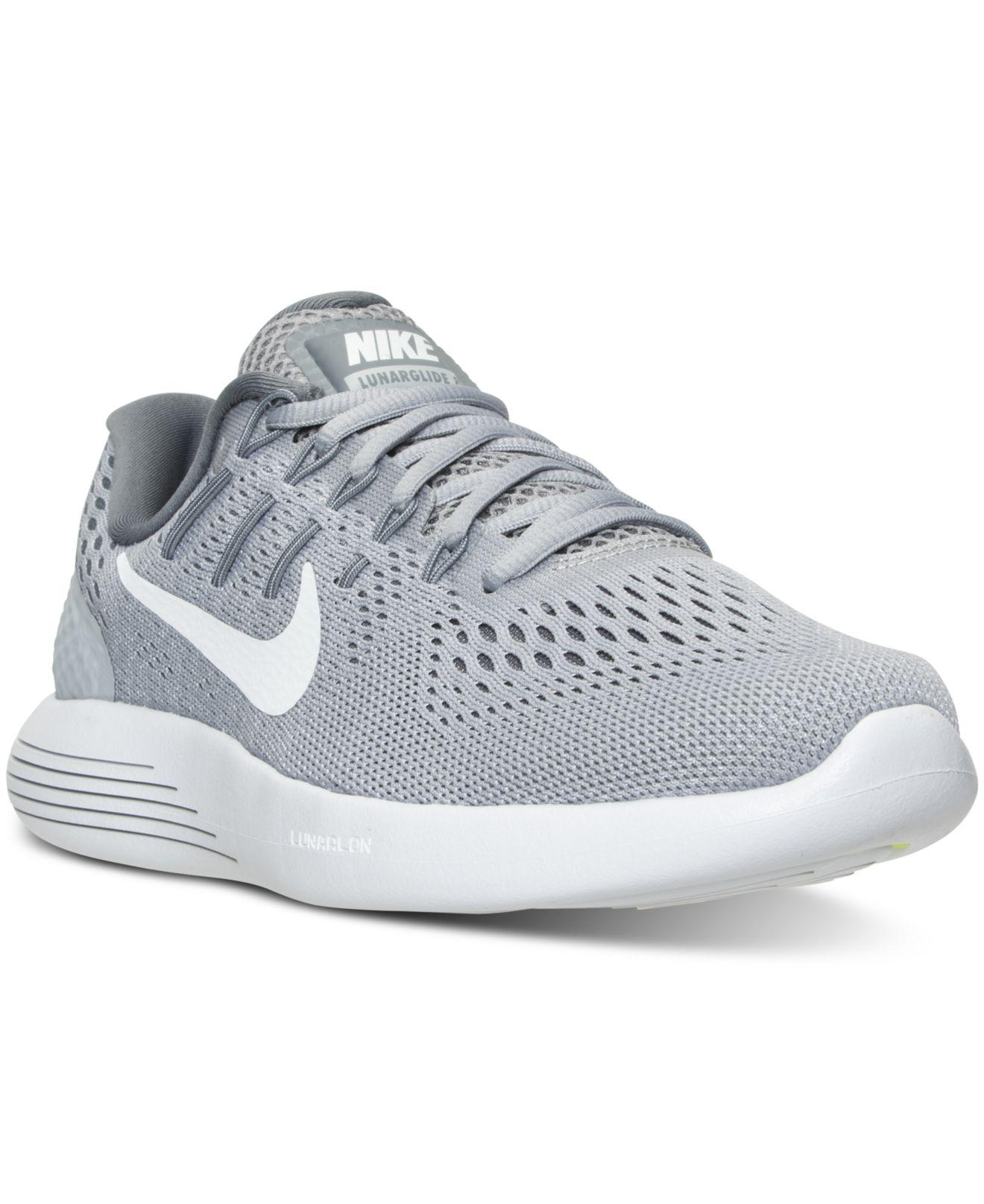 official photos 41e52 237bd Lyst - Nike Lunarglide 8 Running Sneakers From Finish Line in Gray