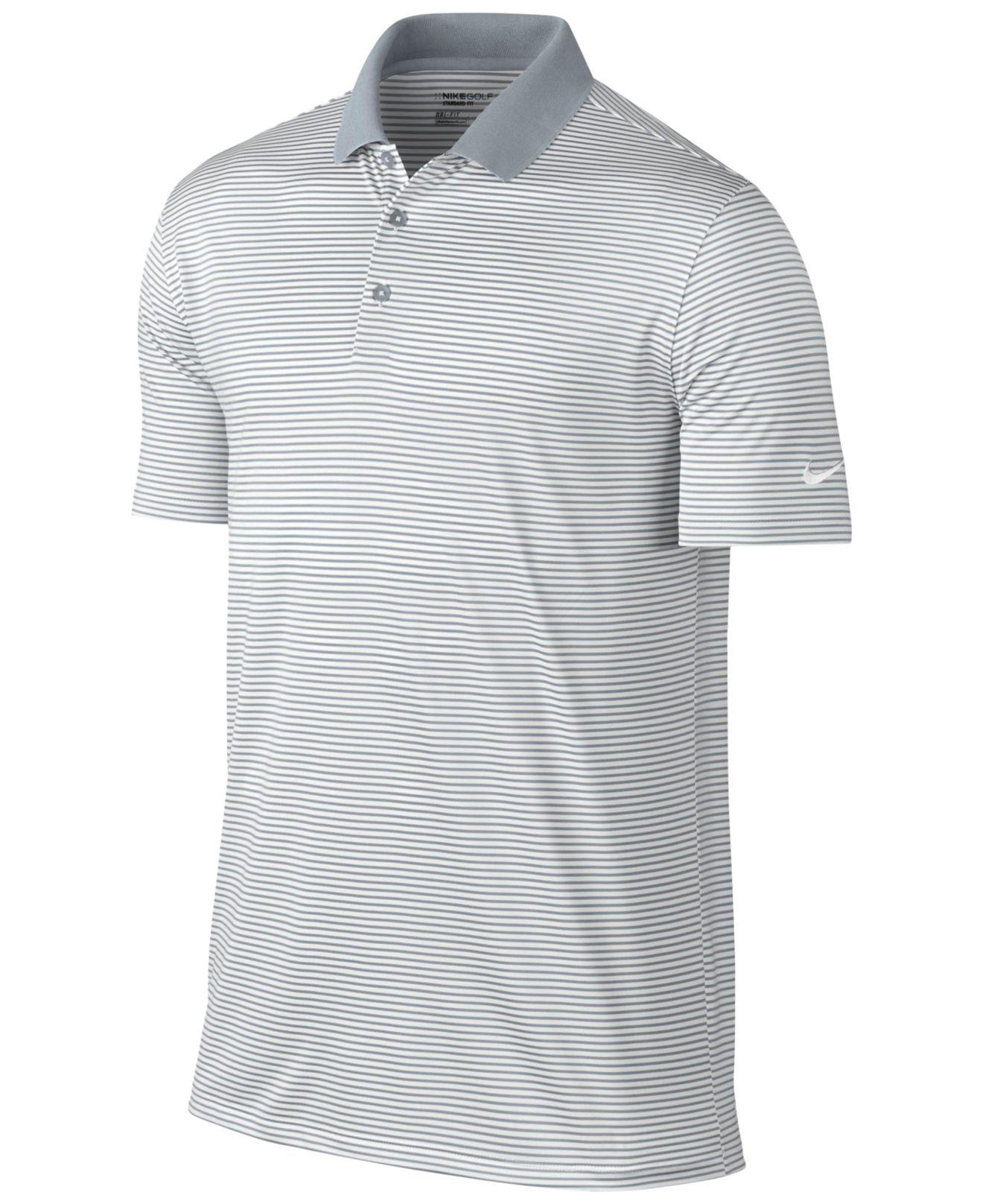 Nike - White Men s Victory Mini Stripe Polo Shirt for Men - Lyst. View  fullscreen ada2c7452