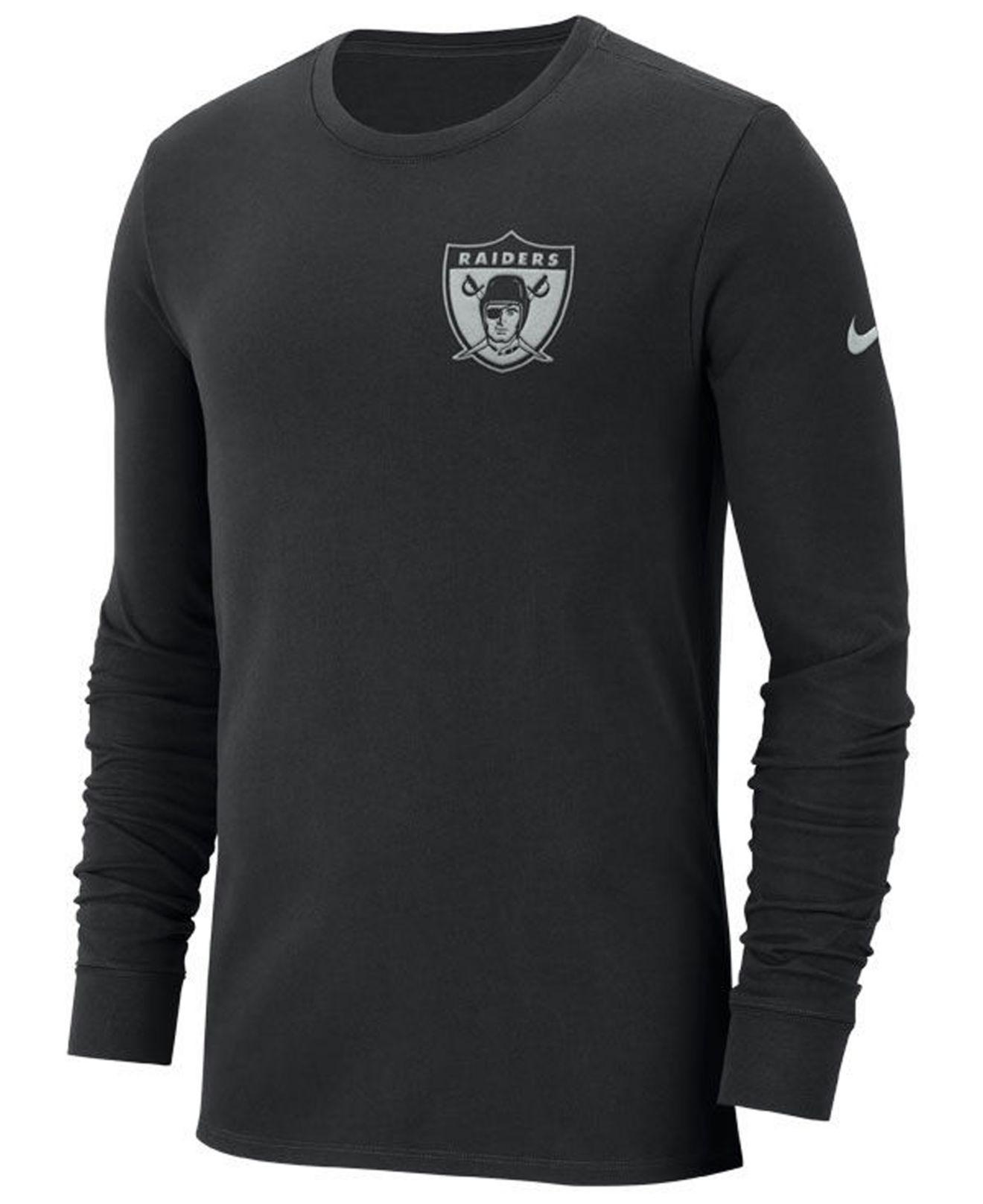 Lyst - Nike Oakland Raiders Heavyweight Seal Long Sleeve T-shirt in ... 31fc5a14a