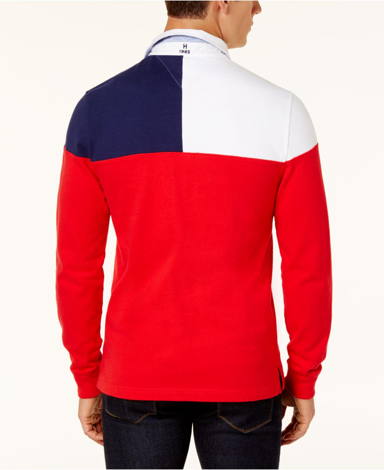 Tommy Hilfiger Tommy Hilfiger Men's Harbor Rugby Polo, Created for Macy's Red L from macys   more