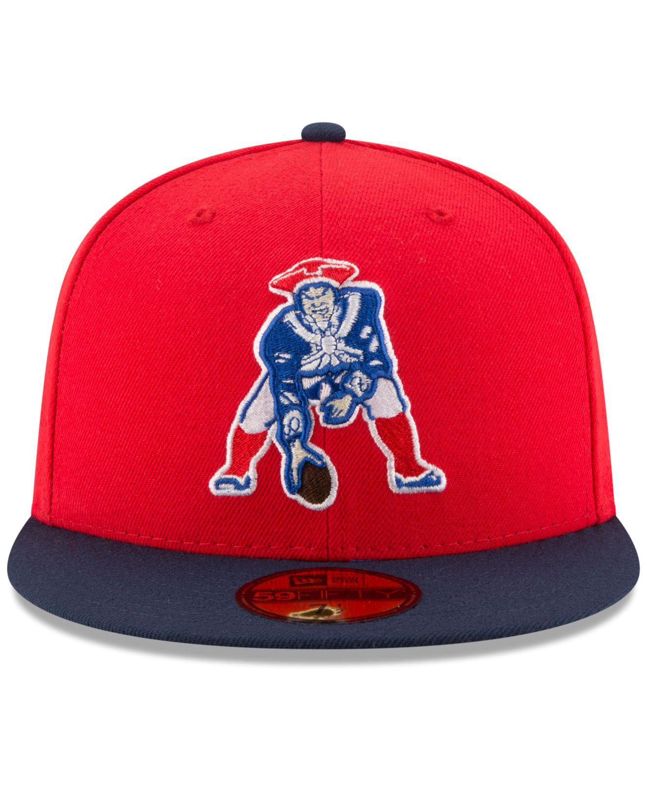 Lyst - KTZ New England Patriots Team Basic 59fifty Cap in Red for Men 41d4165a8