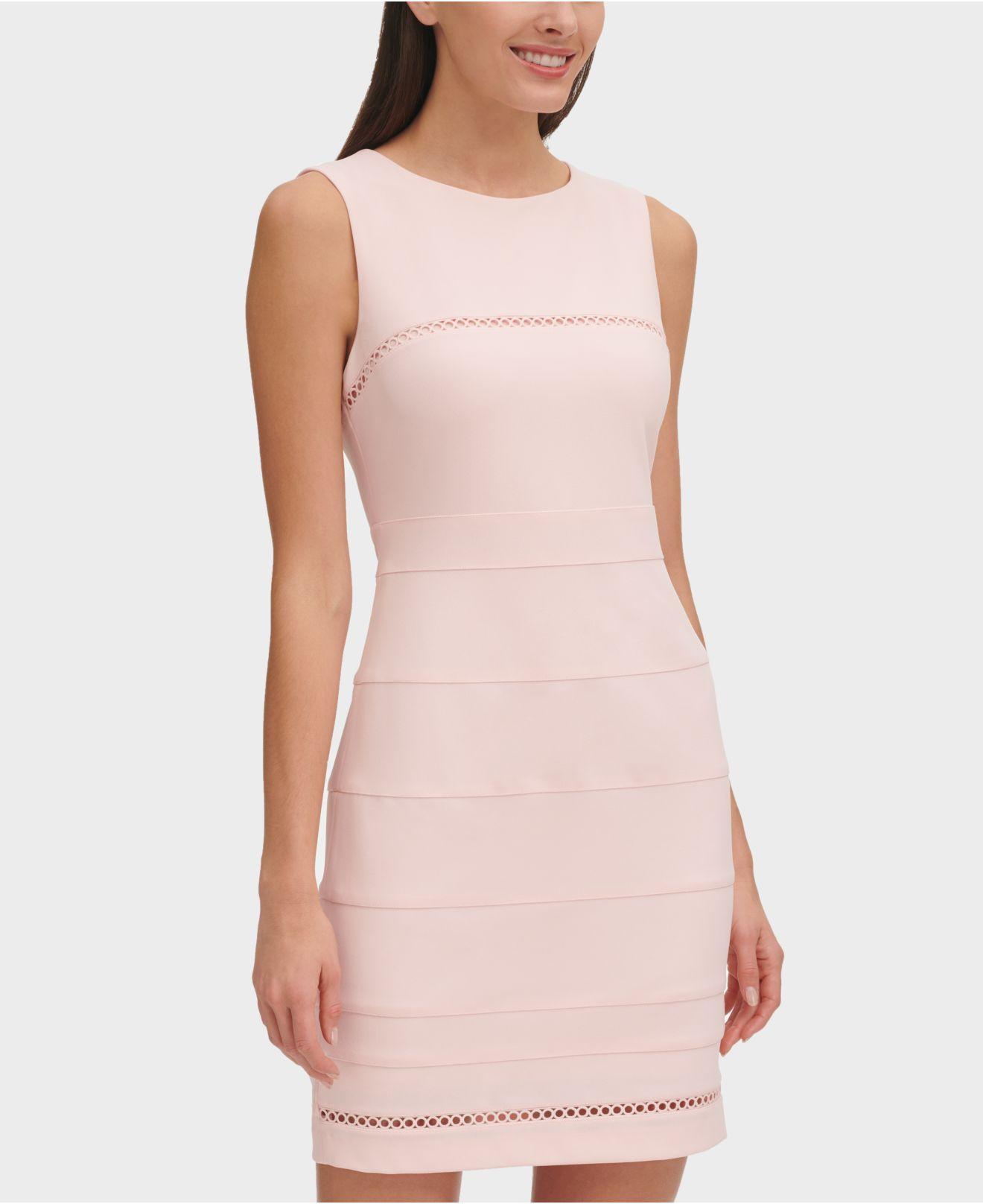 ff78c79f6929 Tommy Hilfiger Circle-trim Dress in Pink - Lyst