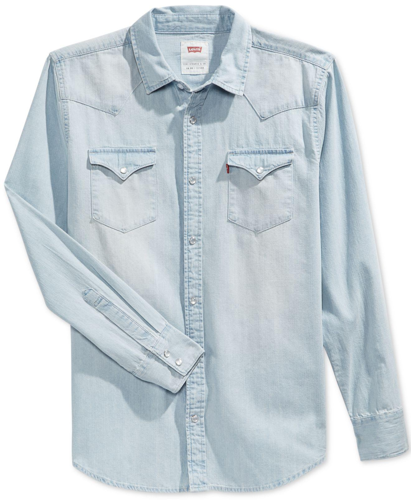 8e1529cb Levi's Standard Barstow Western Long-sleeve Denim Shirt in Blue for ...
