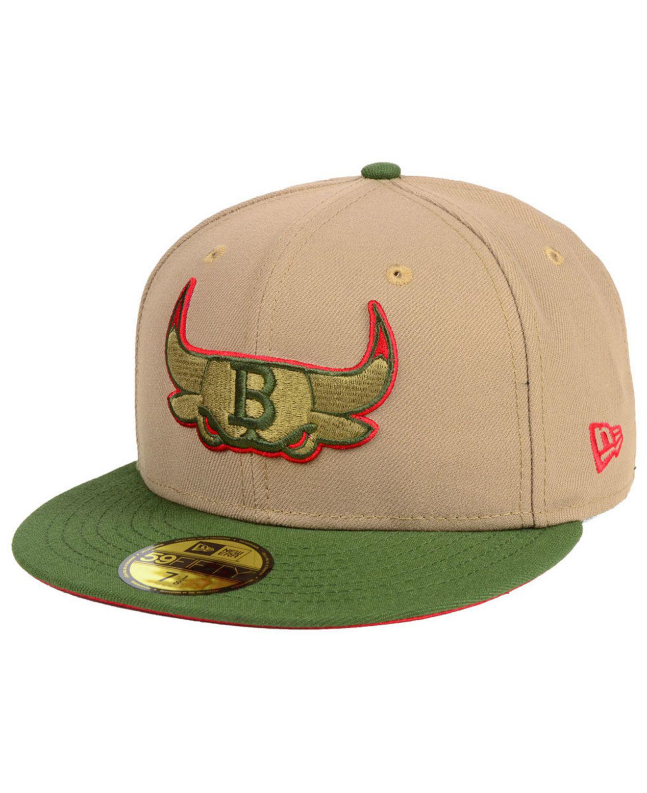 factory price b2ce1 f9521 KTZ - Green Chicago Bulls Fall 2 Tone Combo 59fifty-fitted Cap for Men -.  View fullscreen