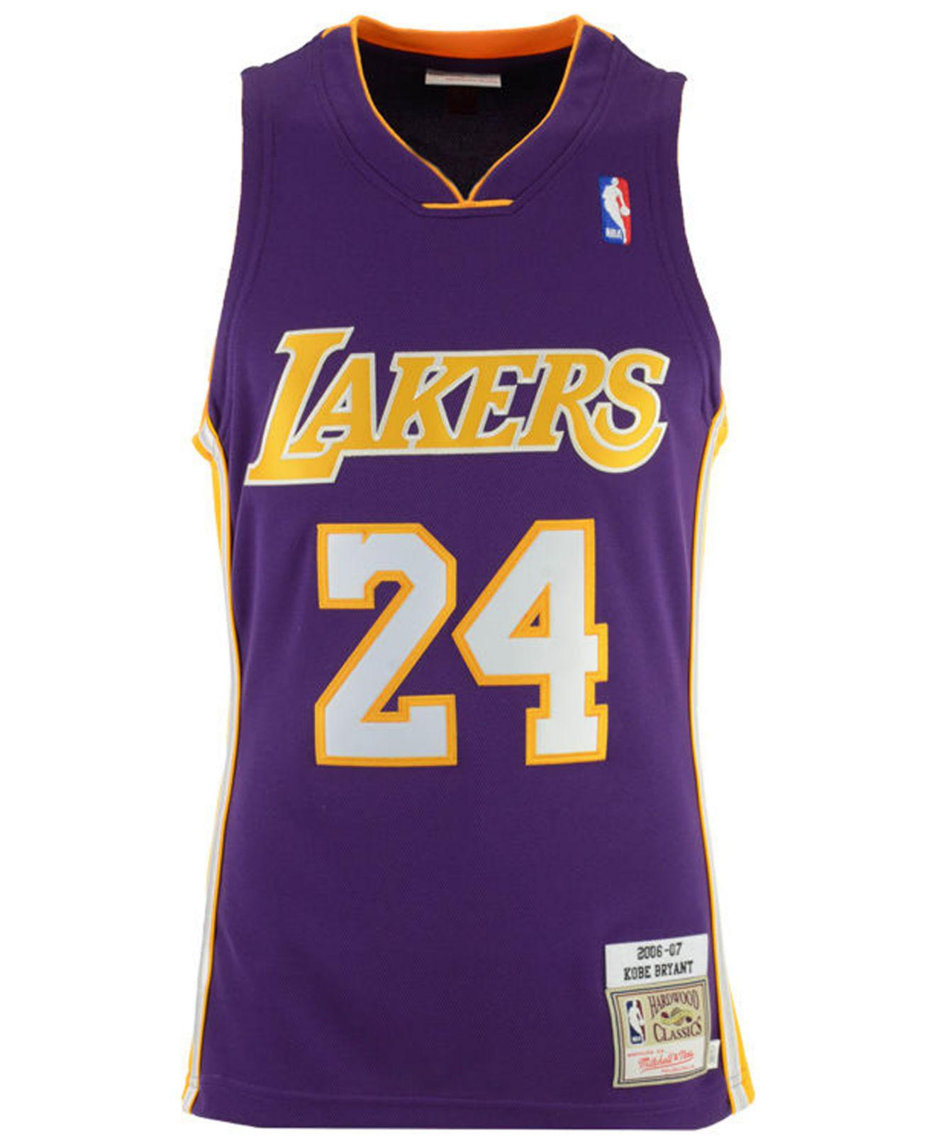 1b15f6dc1d1 Lyst - Mitchell   Ness Kobe Bryant Los Angeles Lakers Authentic Jersey in  Purple