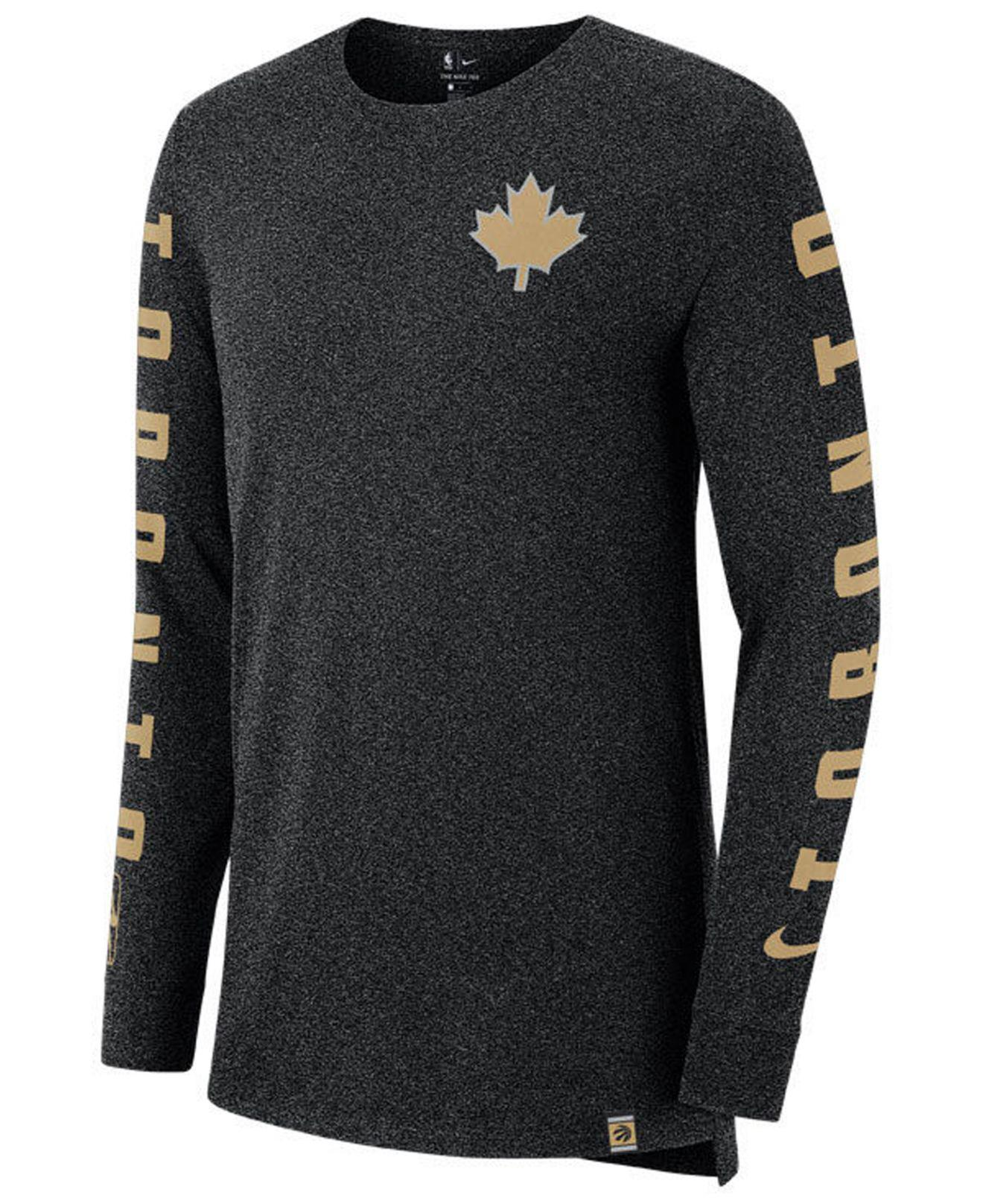 Lyst - Nike Toronto Raptors City Elevated Long Sleeve Dry T-shirt in ... c62bb2d61