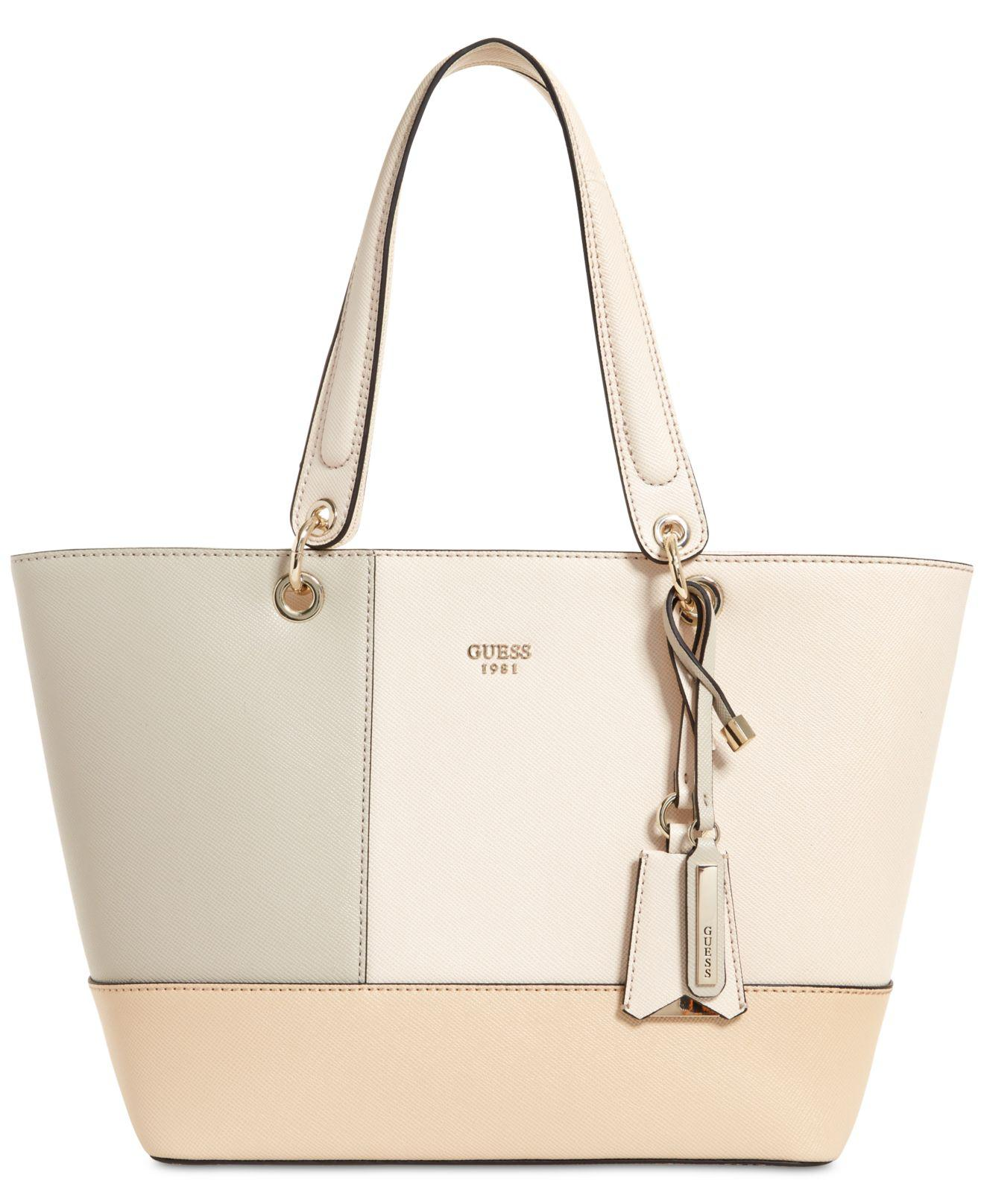 f684a8f2a5 Guess Kamryn Extra-large Tote in Natural - Lyst