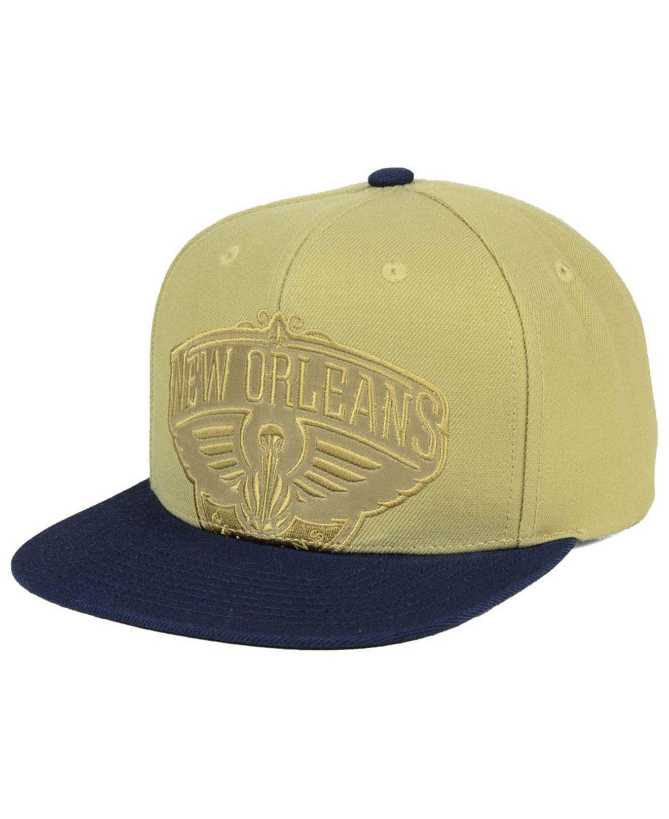 info for 31bca 70f32 ... netherlands mitchell ness. mens new orleans pelicans cropped satin snapback  cap 40587 364f5