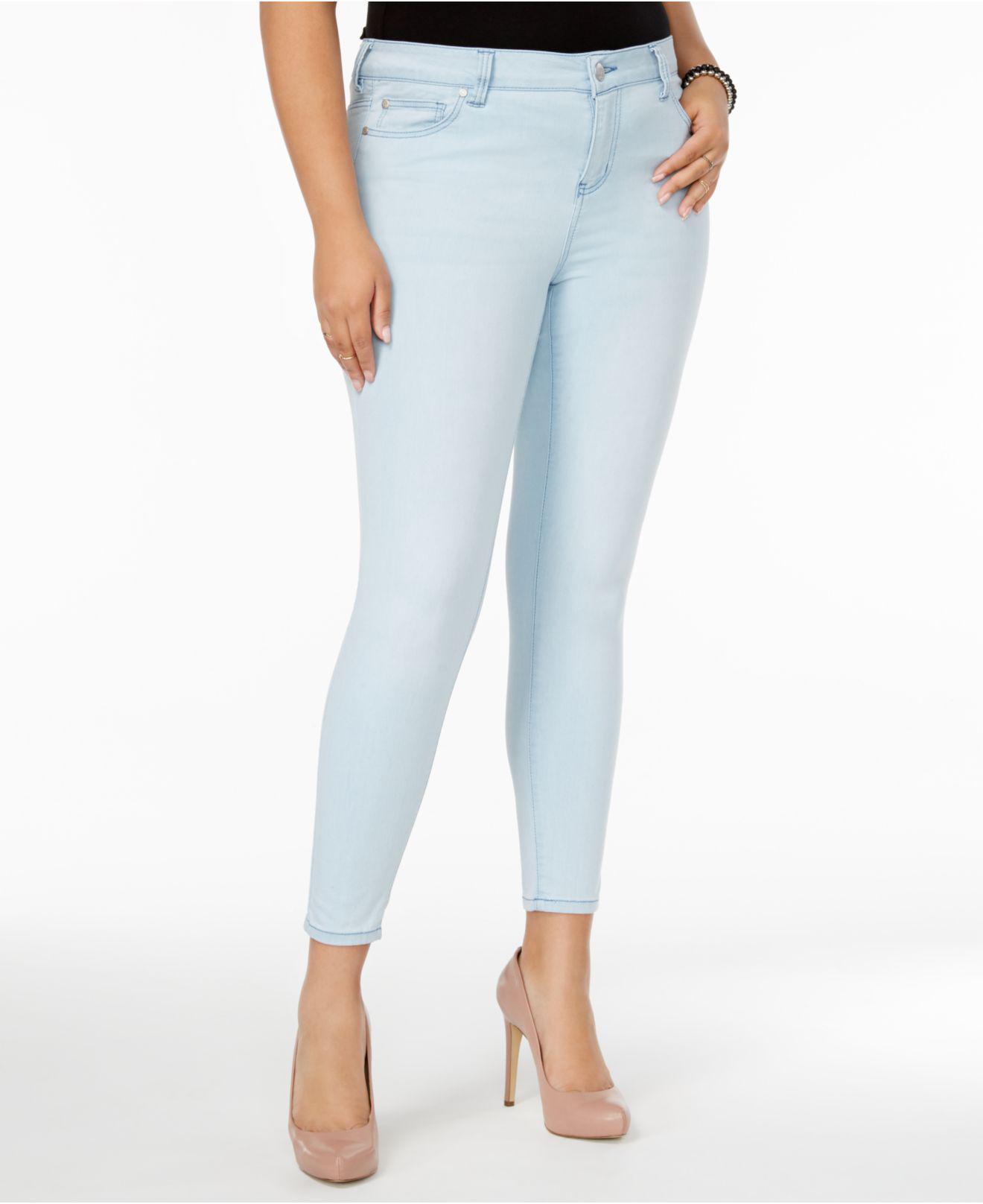 4446d704755c3 Celebrity Pink. Women s Blue Plus Size Outsiders Wash Super-soft Skinny  Jeans