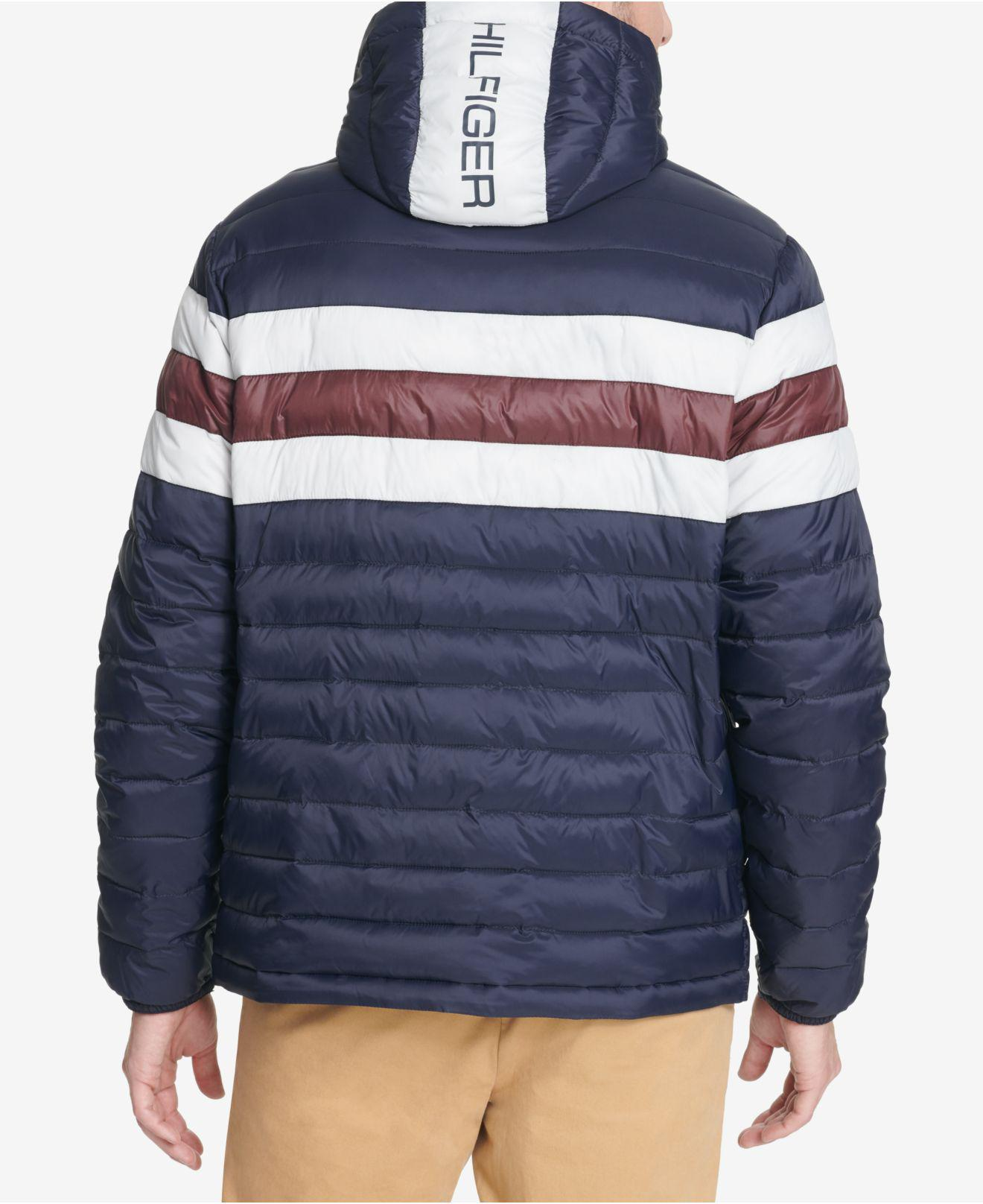 2d76cf419166 Lyst - Tommy Hilfiger Color Block Hooded Ski Coat, Created For Macy's in  Blue for Men - Save 24%