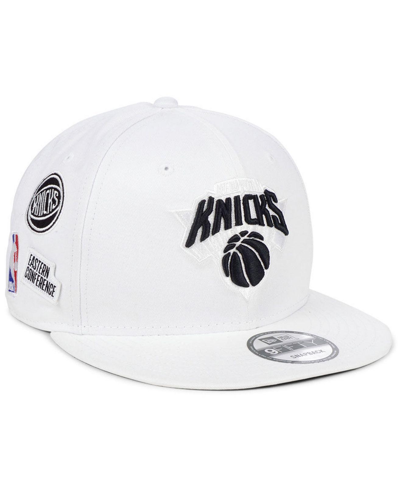 db5f672ed Lyst - KTZ New York Knicks Night Sky 9fifty Snapback Cap in White ...