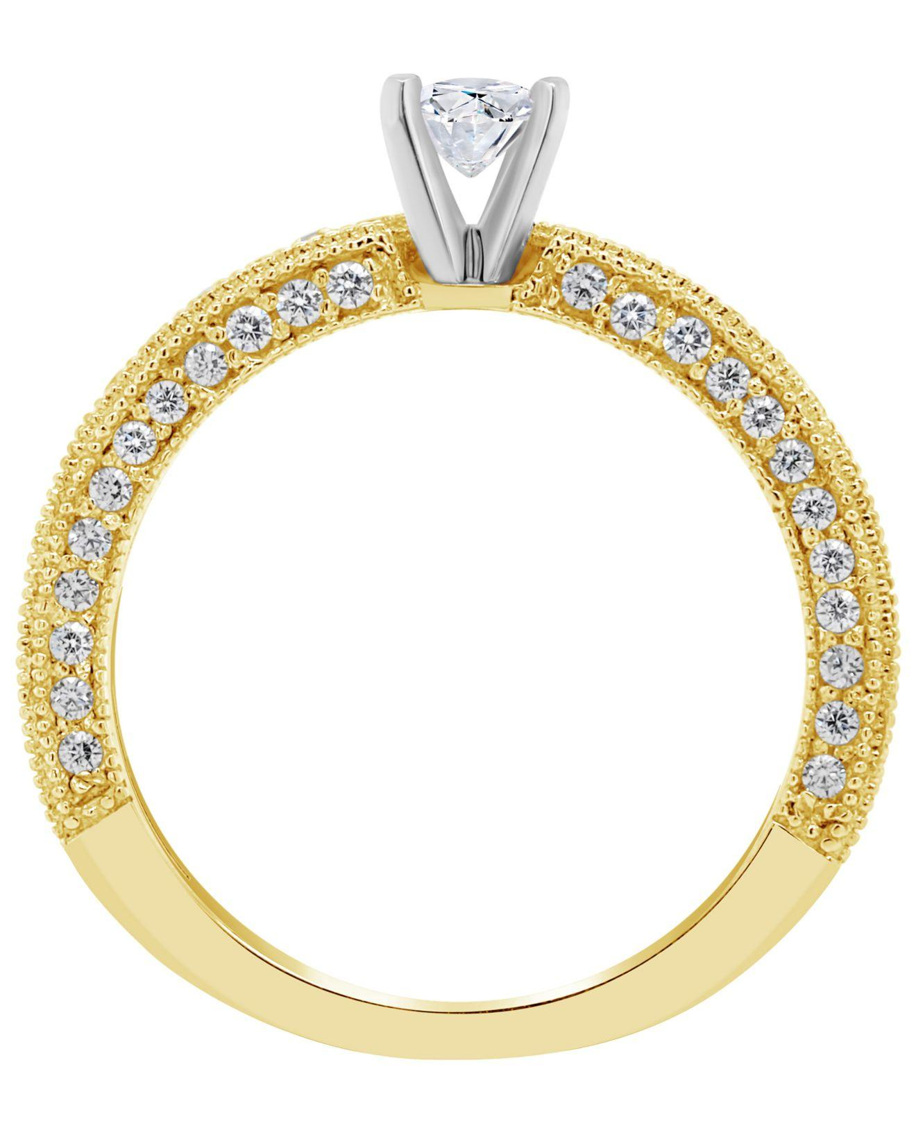 6b6cf64d8 Macy's Certified Oval Diamond Engagement Ring (1 1/5 Ct. T.w.) In 14k White  Gold, Rose Gold, Or Yellow Gold in Metallic - Lyst