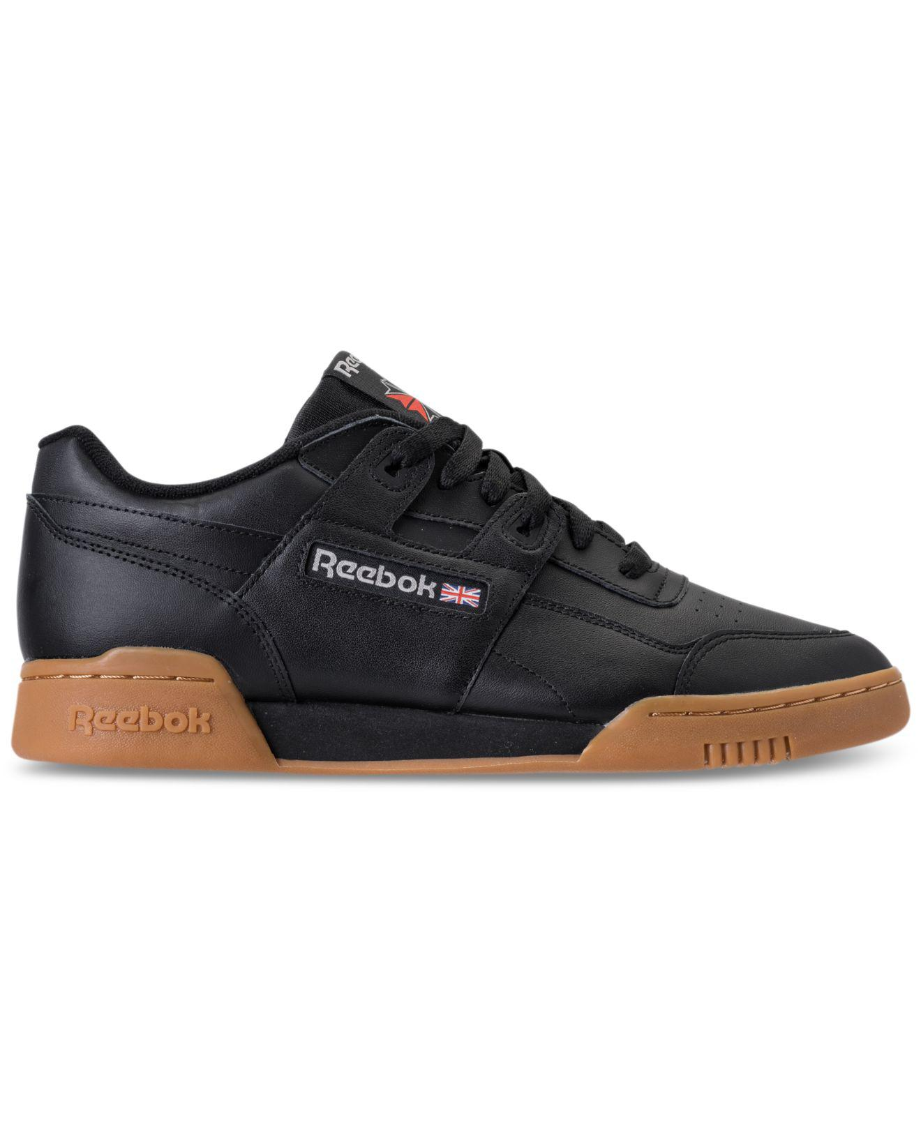Lyst - Reebok Men s Workout Plus Leather Low-top Sneakers in Black for Men  - Save 25.0% ac37eebbc