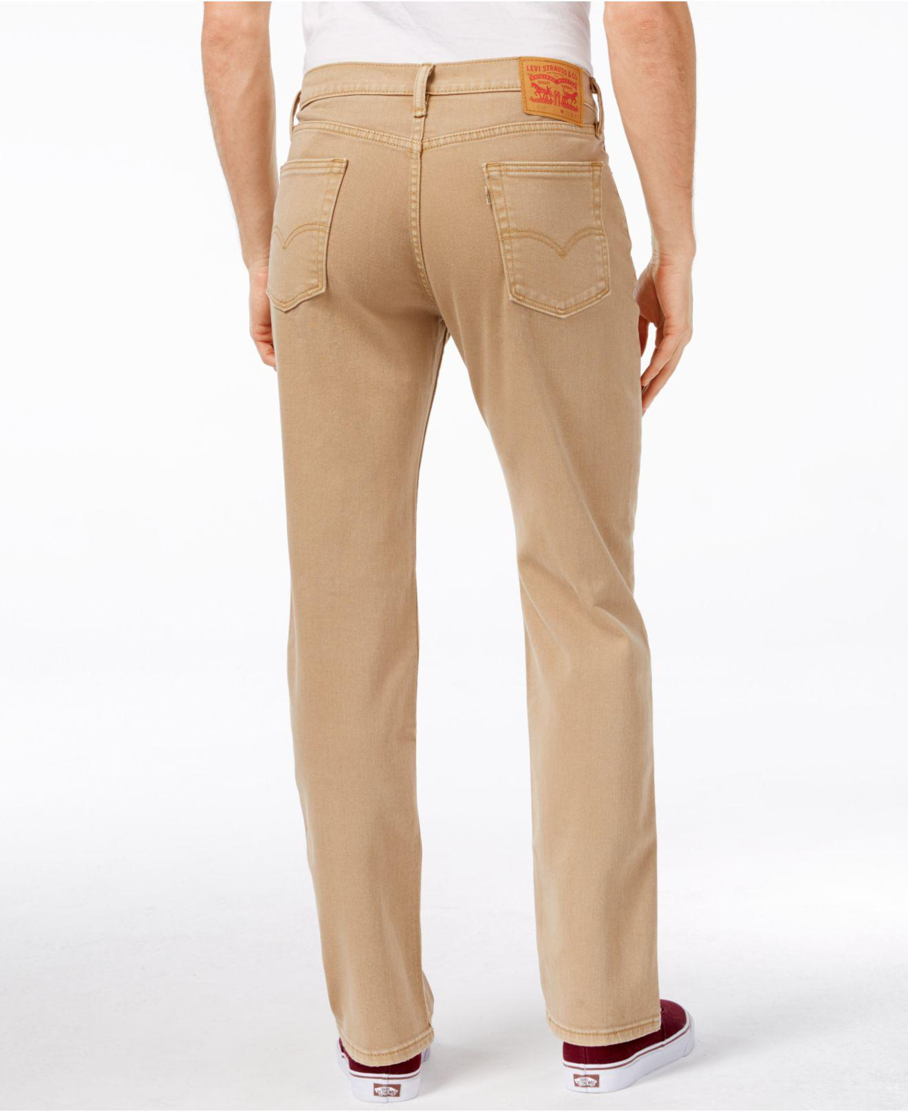 313b0cfc Levi's - Natural Men's 514 Straight-leg Corduroy Pants for Men - Lyst. View  fullscreen