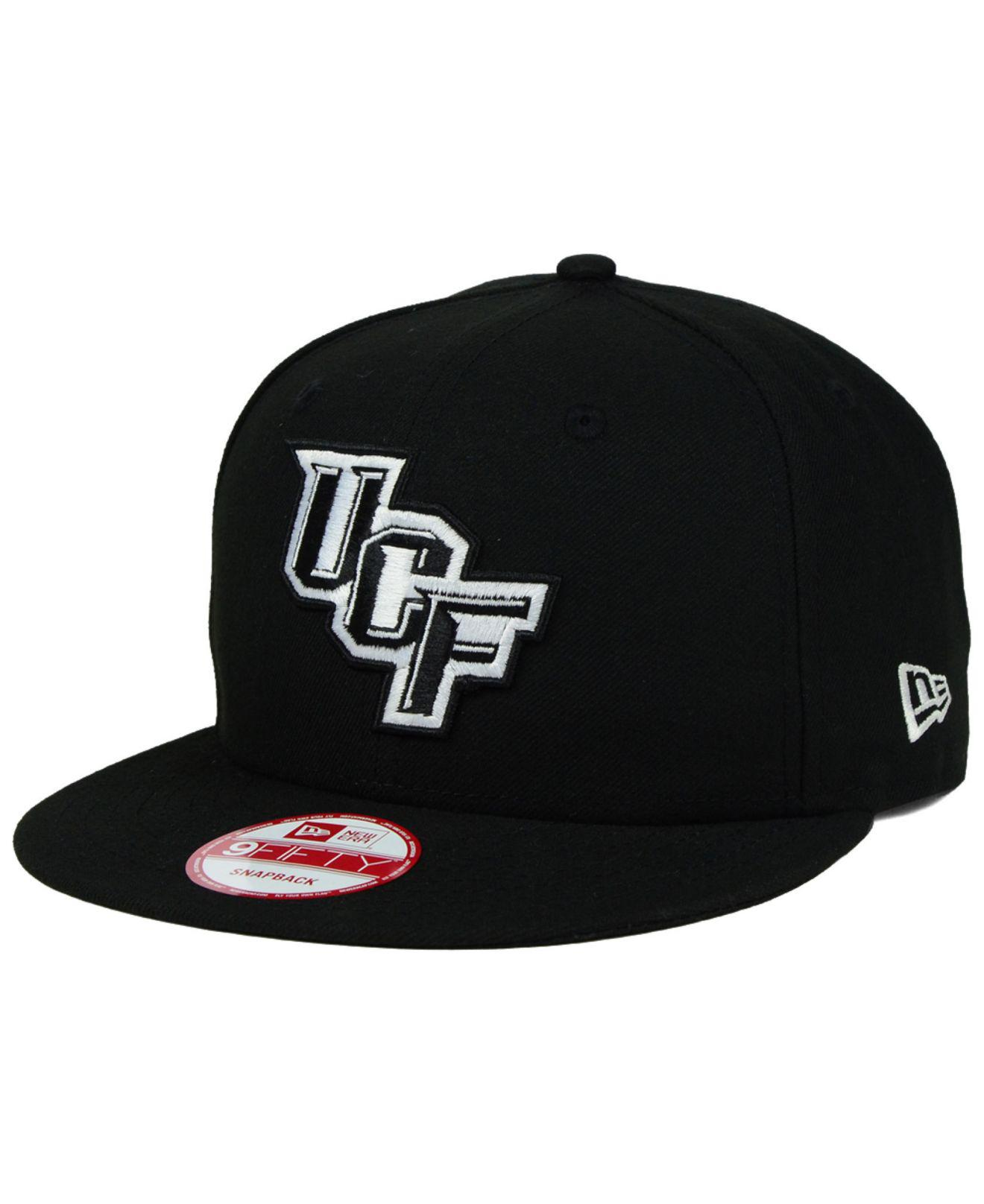 fd61e7fa620 Lyst - Ktz Ucf Knights Black White 9fifty Snapback Cap in Black for Men