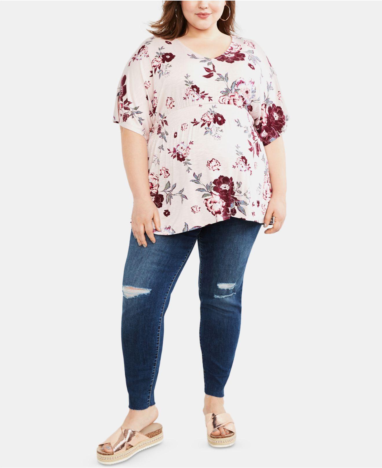 b797abfc2bbc0 Jessica Simpson. Women's Blue Maternity Plus Size Distressed Skinny Jeans