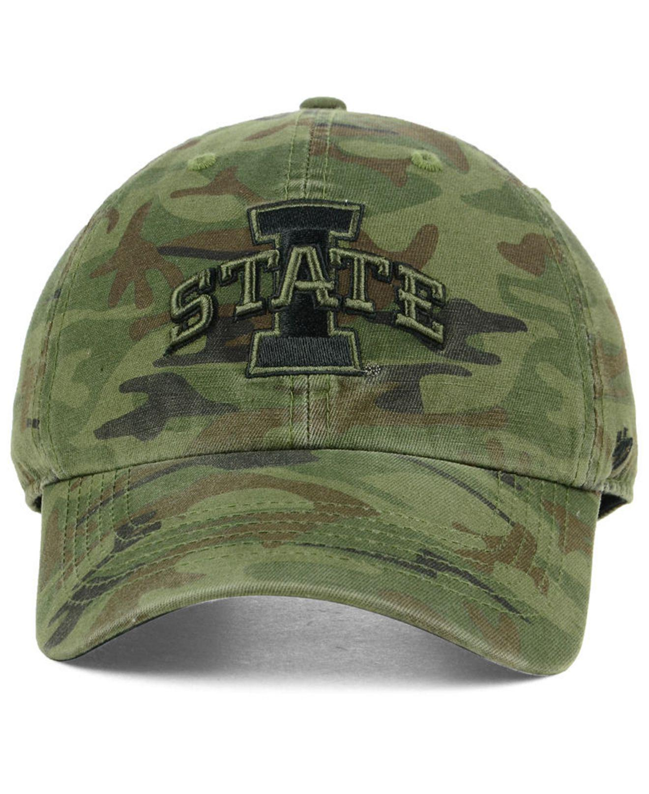 quite nice 0d899 720e6 ... best lyst 47 brand iowa state cyclones regiment clean up strapback cap  in green for men