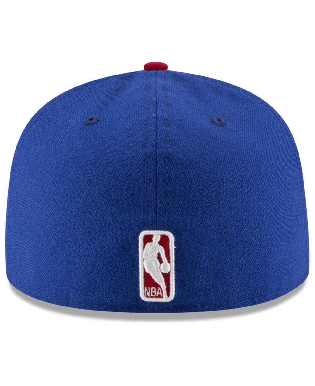sports shoes 63e1e 8984f Lyst - KTZ Philadelphia 76ers Basic 2 Tone 59fifty Fitted Cap in Blue for  Men