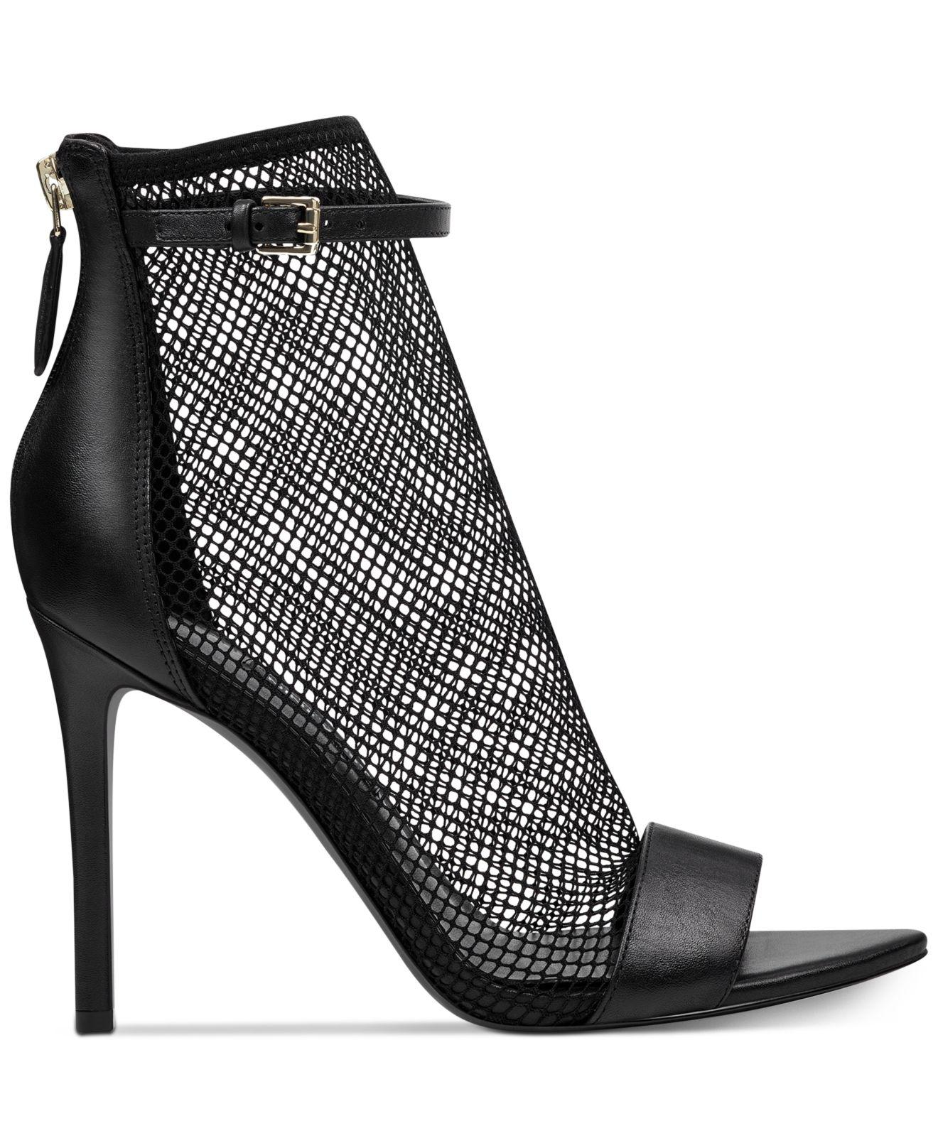 e07818a3bdb Lyst - Nine West Gotbank Mesh Dress Sandals in Black - Save 61%