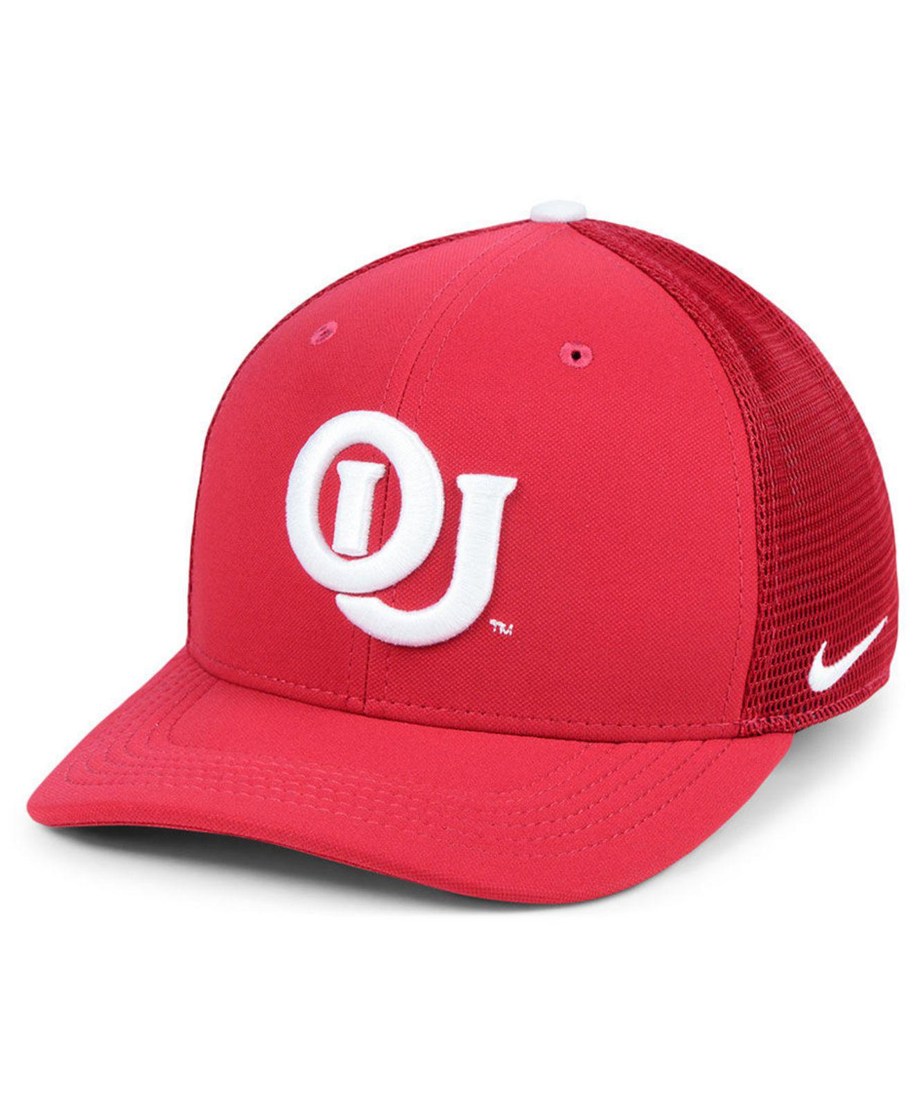 new style 2058b bcd5d Lyst - Nike Oklahoma Sooners Col Aro Swooshflex Cap in Red for Men
