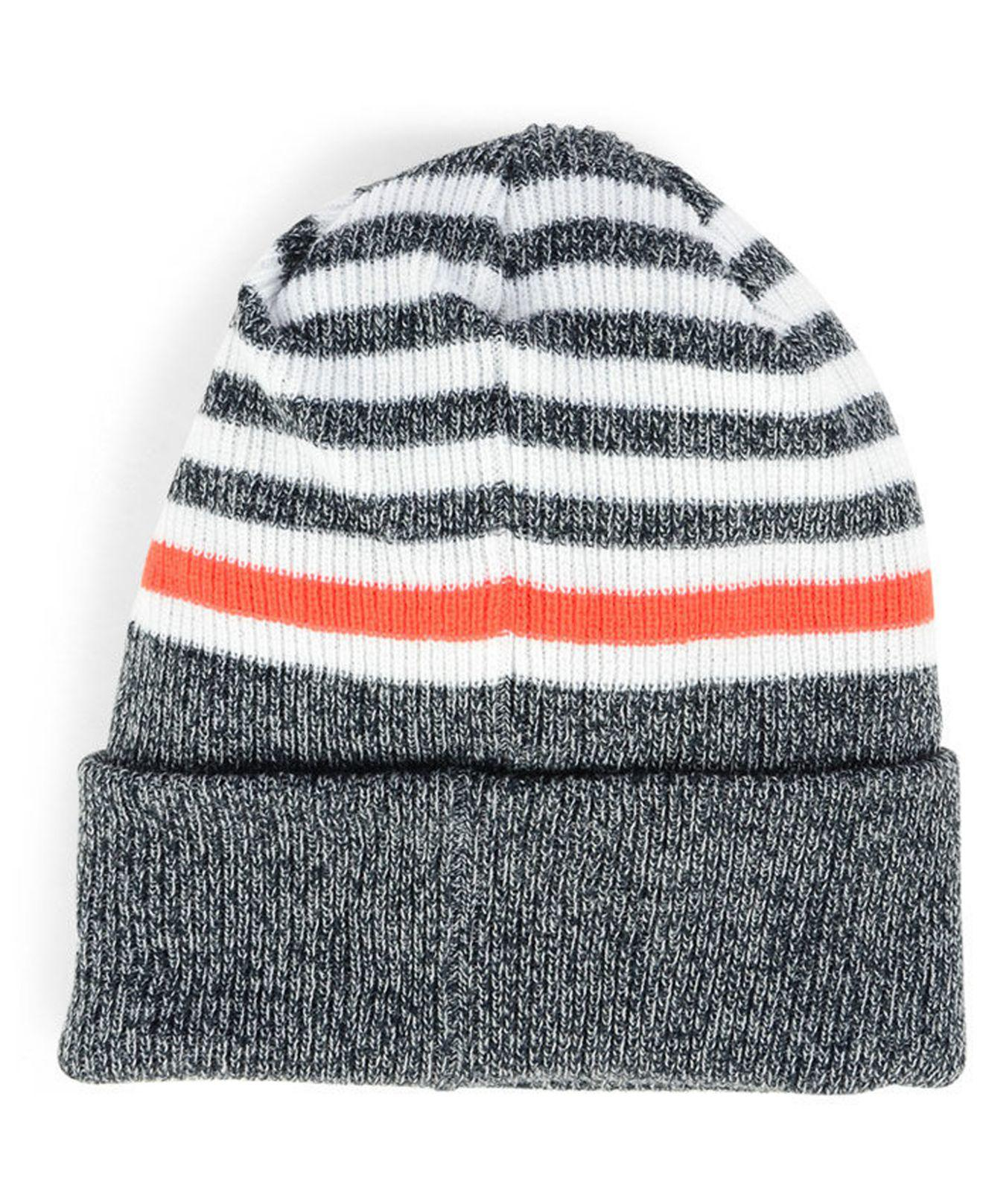 sports shoes 92436 cdaa8 ... new arrivals lyst ktz syracuse orange striped chill knit hat in blue  for men 5c8ac 0b42d