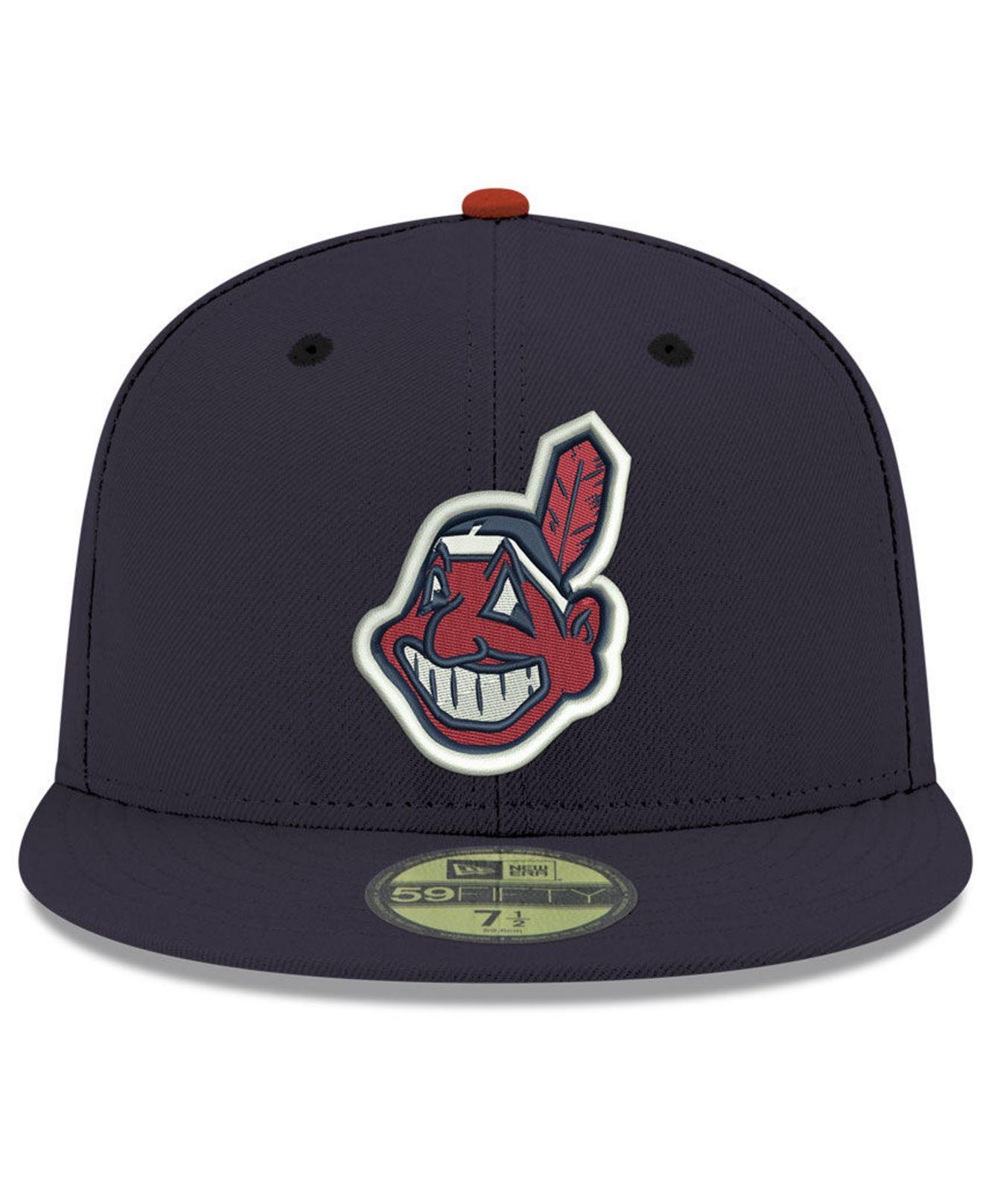 ccea23172614f KTZ Cleveland Indians Retro Classic 59fifty Fitted Cap in Blue for ...