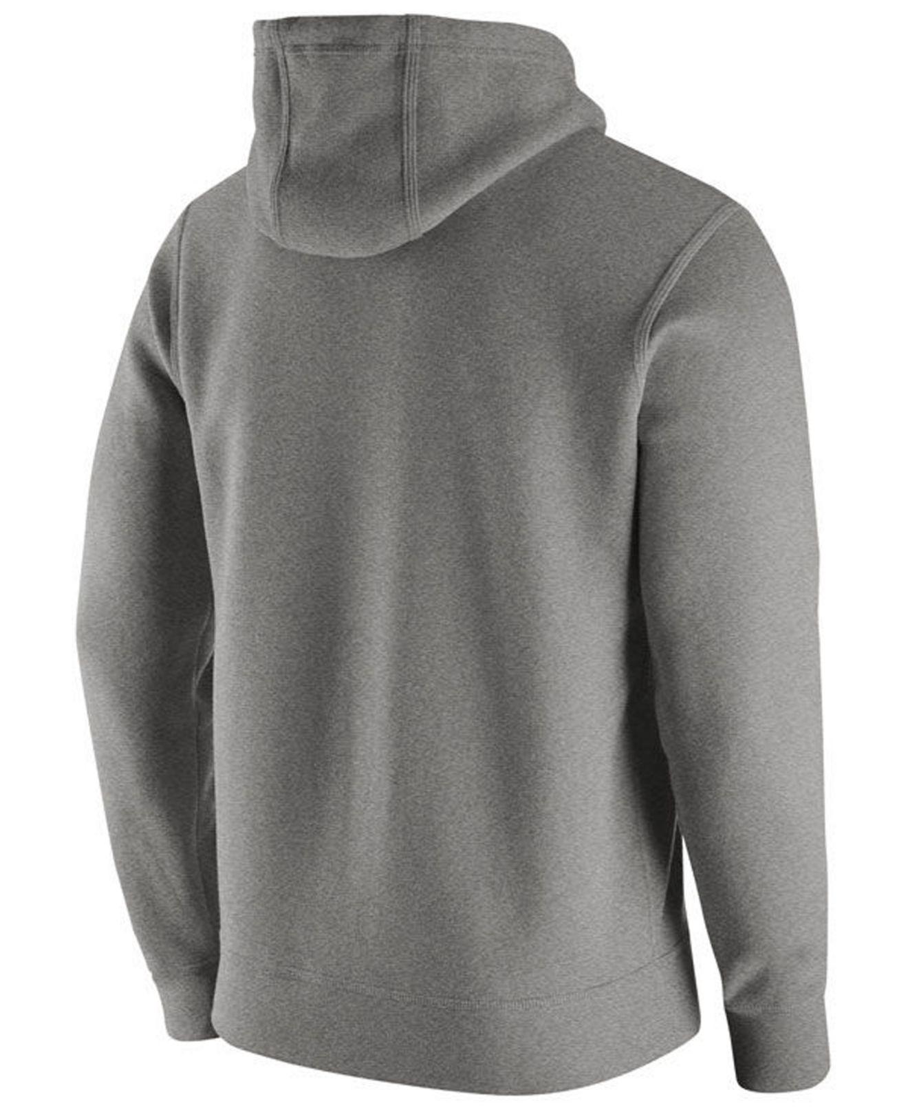 cc3b0cdabd91 Lyst - Nike Byu Cougars Cotton Club Fleece Hooded Sweatshirt in Gray for Men