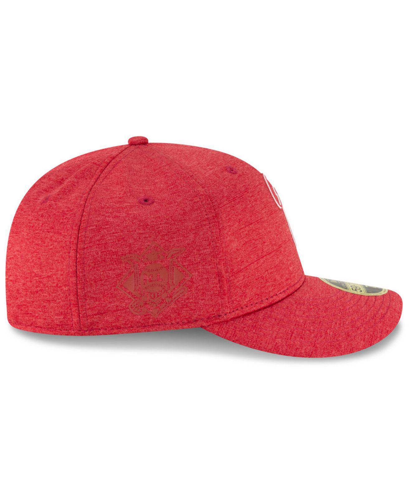 new concept cd0fd 98629 Lyst - KTZ Philadelphia Phillies Clubhouse Low Crown 59fifty Fitted Cap in  Red for Men