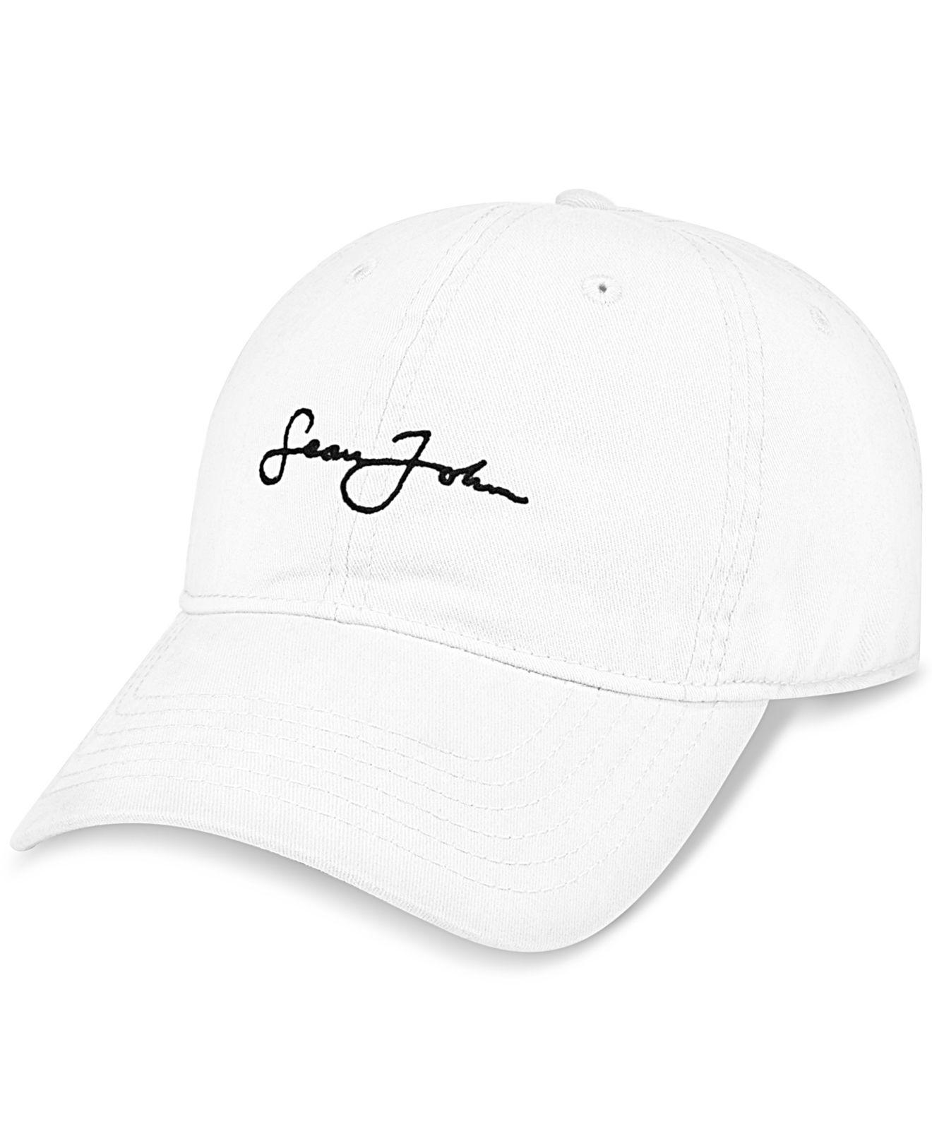 bc486eb6ef7 Lyst - Sean John Men s Textured Cap in White for Men