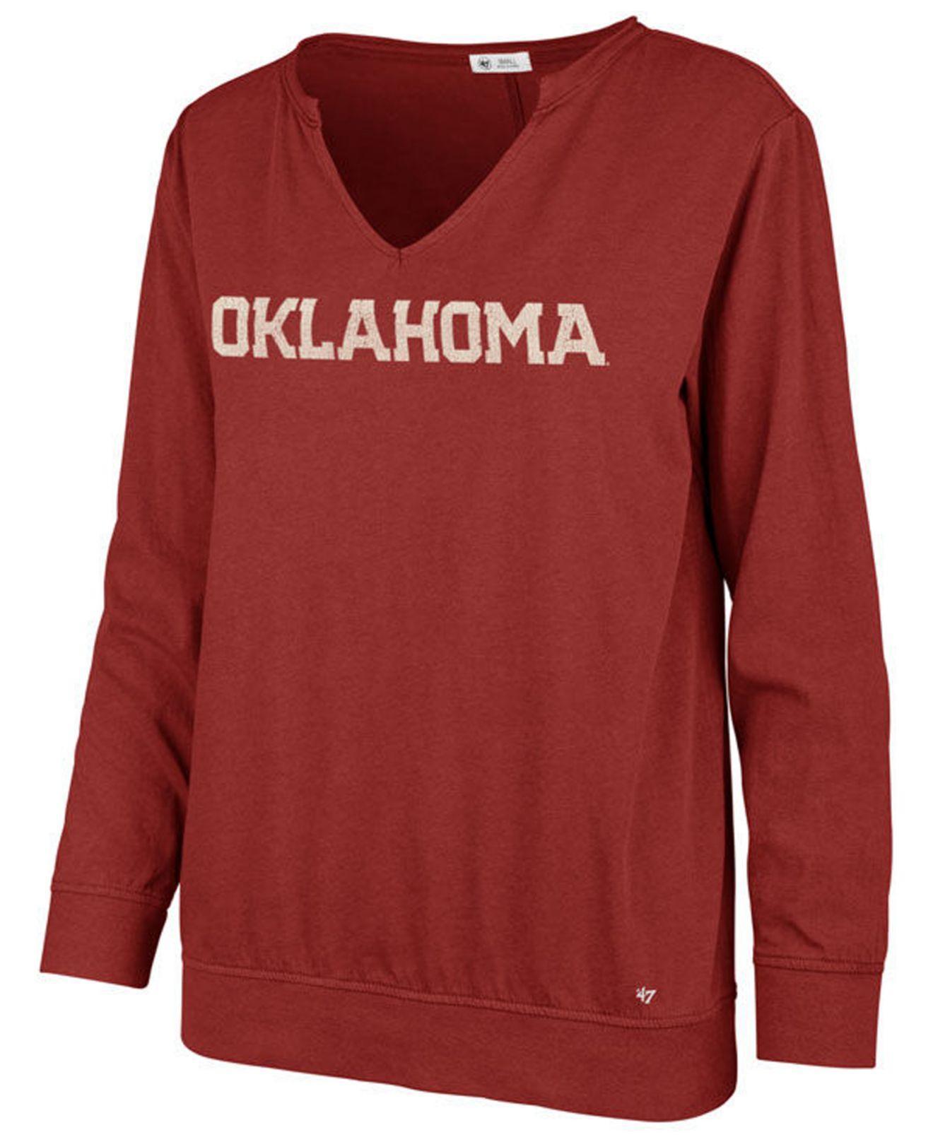 8e8b4c29 Lyst - 47 Brand Oklahoma Sooners Gamma Long Sleeve T-shirt in Red