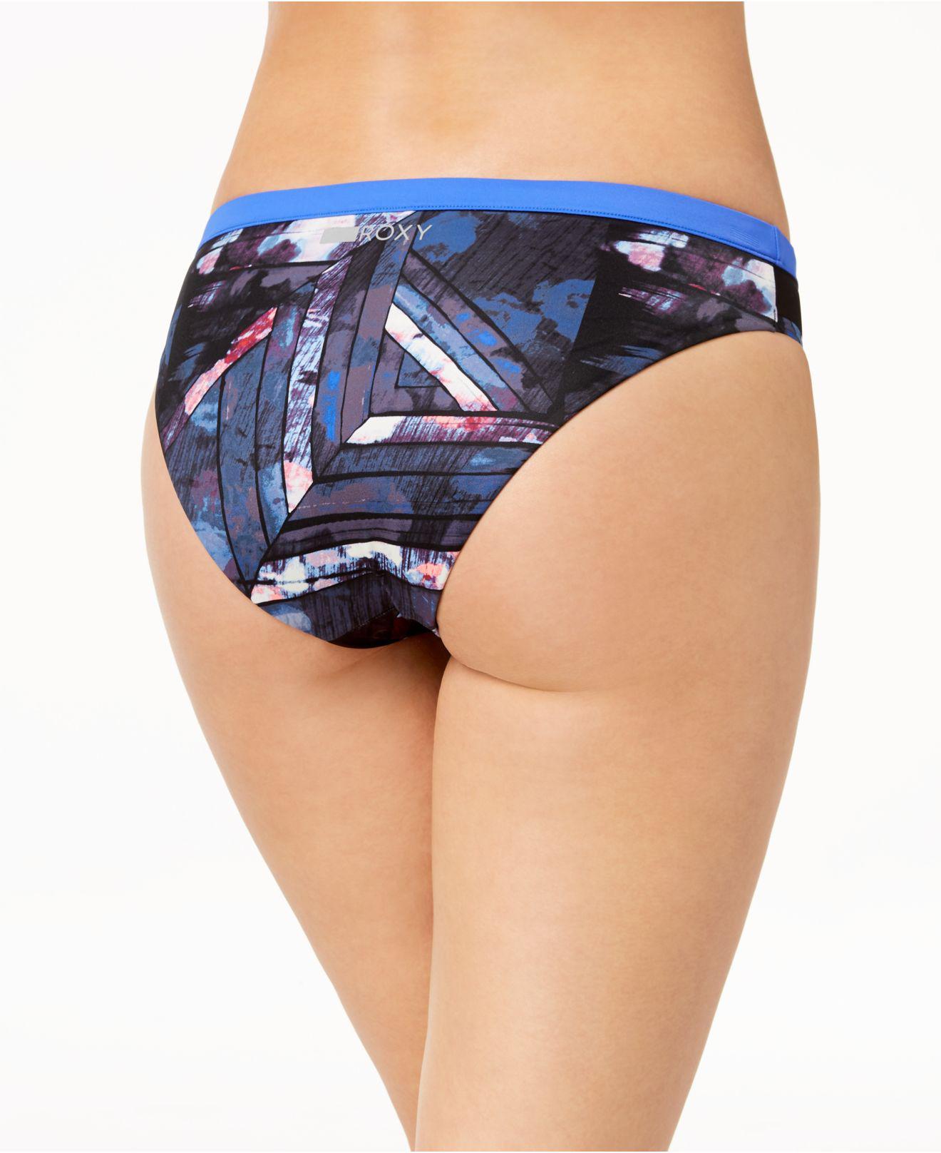 7b6b818f52129 Lyst - Roxy Juniors' Keep It Scooter Printed Mesh-side Bikini ...