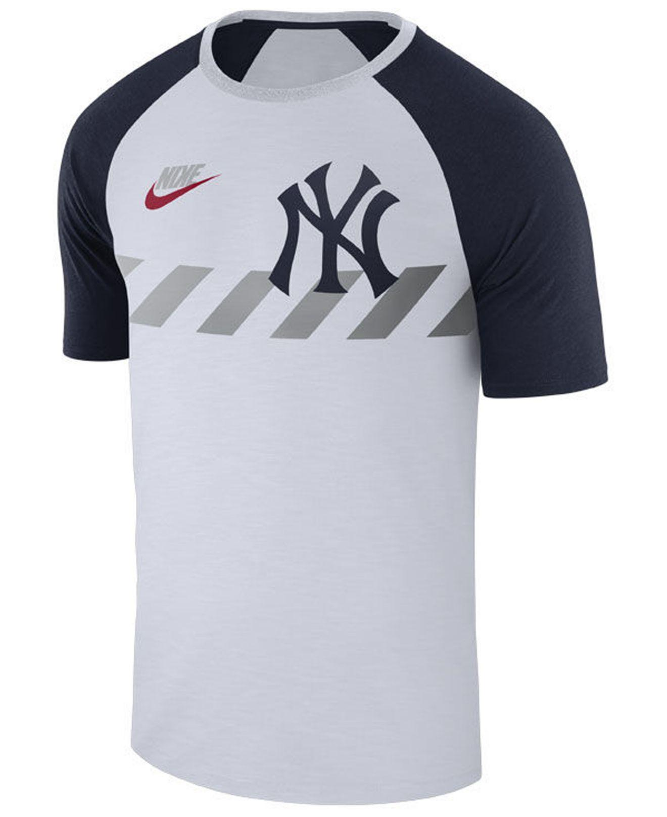 77dd67e11 New York Yankees Tri Blend Raglan T Shirt By Nike - Nils Stucki ...