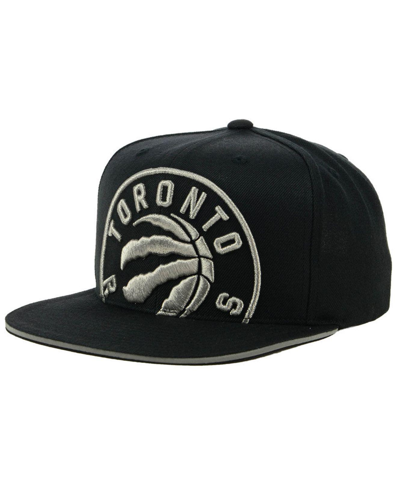 219018bedeb ... reduced mitchell ness. mens black toronto raptors cropped metallic snapback  cap 10e4a f7fd9