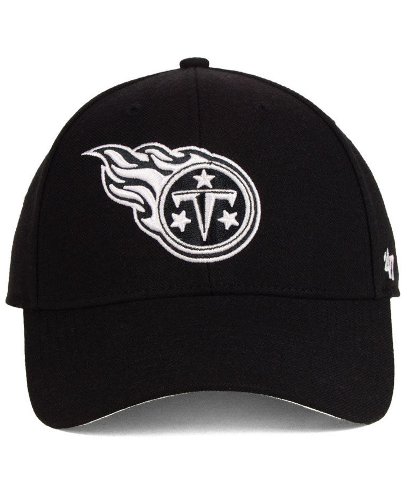 cheap for discount 63855 97c1b ... promo code for lyst 47 brand tennessee titans black white mvp strapback  cap in black for