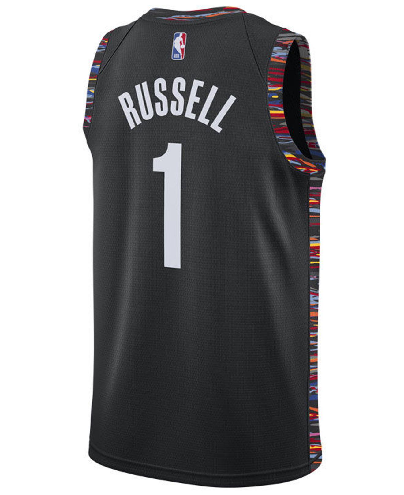7e455bfe5 Lyst - Nike D angelo Russell Brooklyn Nets City Swingman Jersey 2018 ...