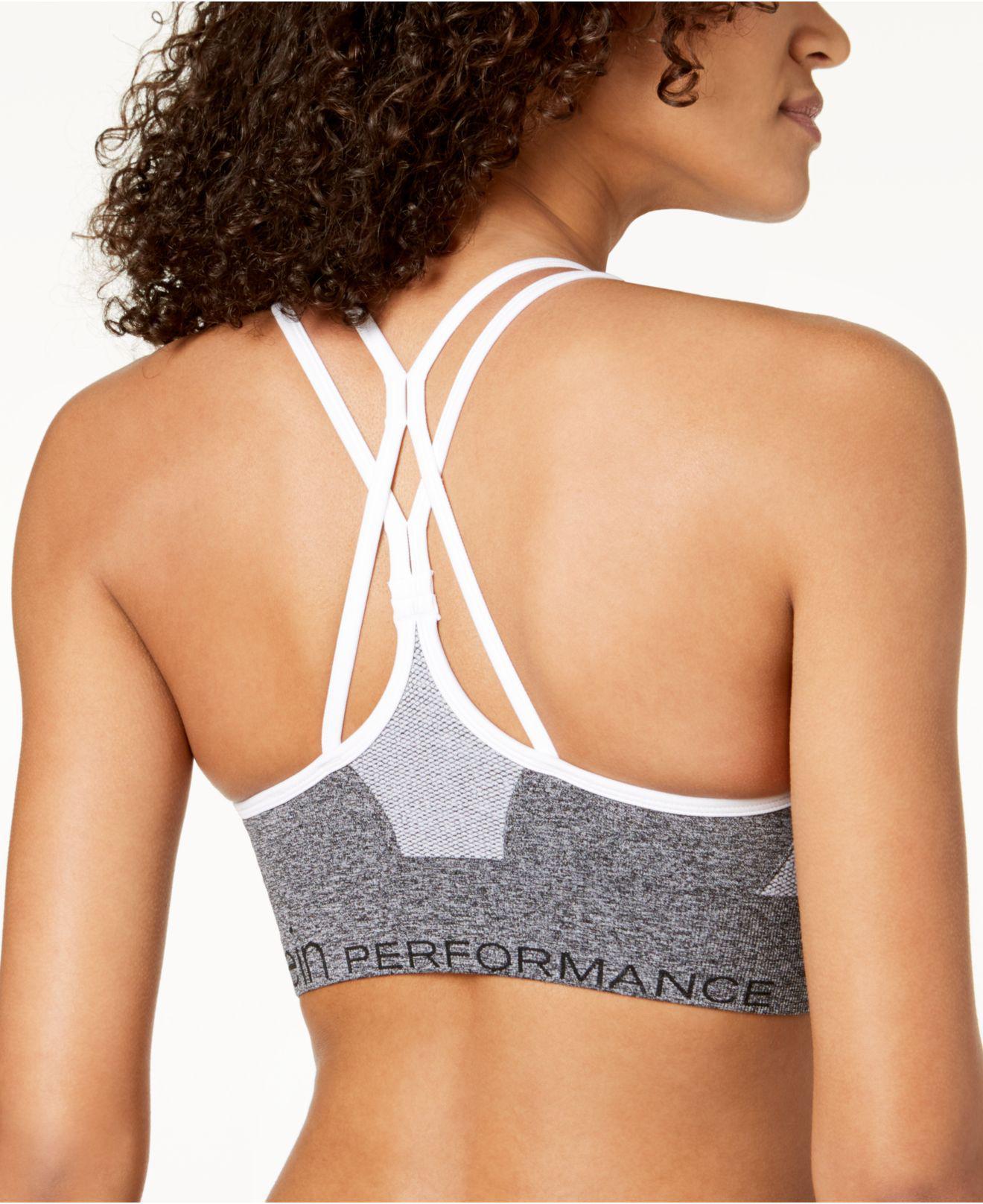 c7fd1c797b Calvin Klein. Women s Gray Performance Strappy-back Low-impact Sports Bra