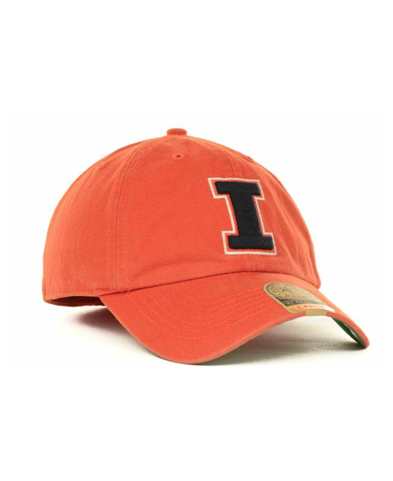 a0553dba7422d ... buy 47 brand orange illinois fighting illini franchise cap for men  lyst. view fullscreen fc37e